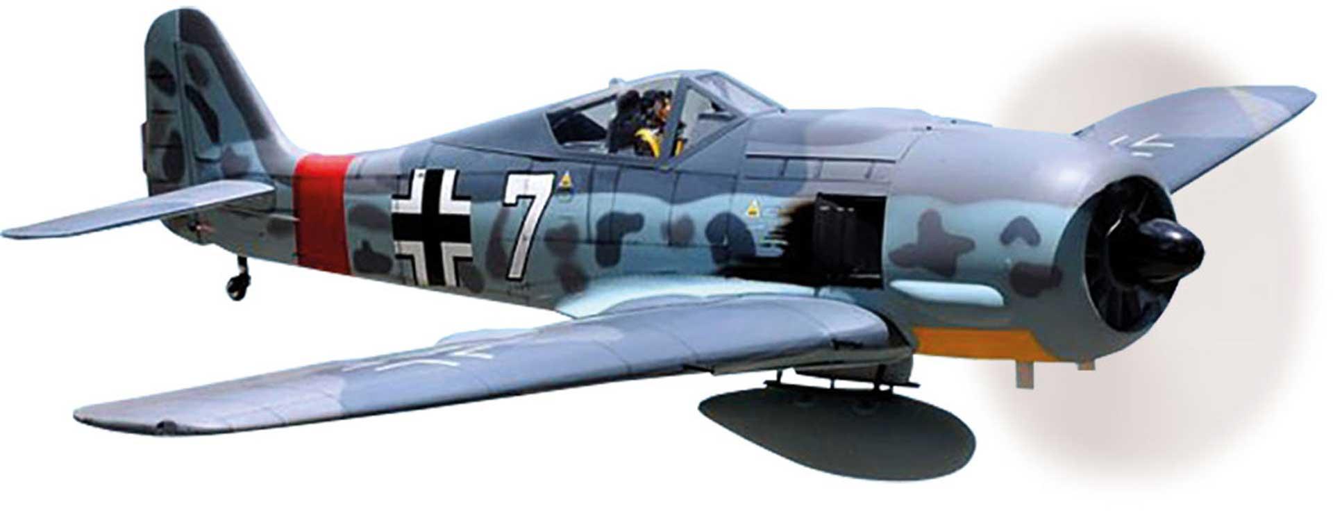BLACK HORSE FOCKE WULF FW-190A ARF 2,6M WARBIRD MIT PNEUMATISCHEN EINZIEHFAHRWERK