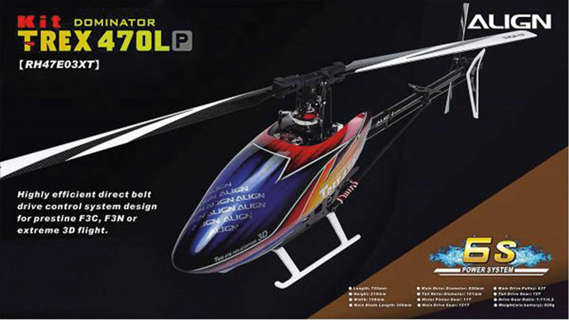 ALIGN T-REX 470LP DOMINATOR KIT Hubschrauber / Helikopter