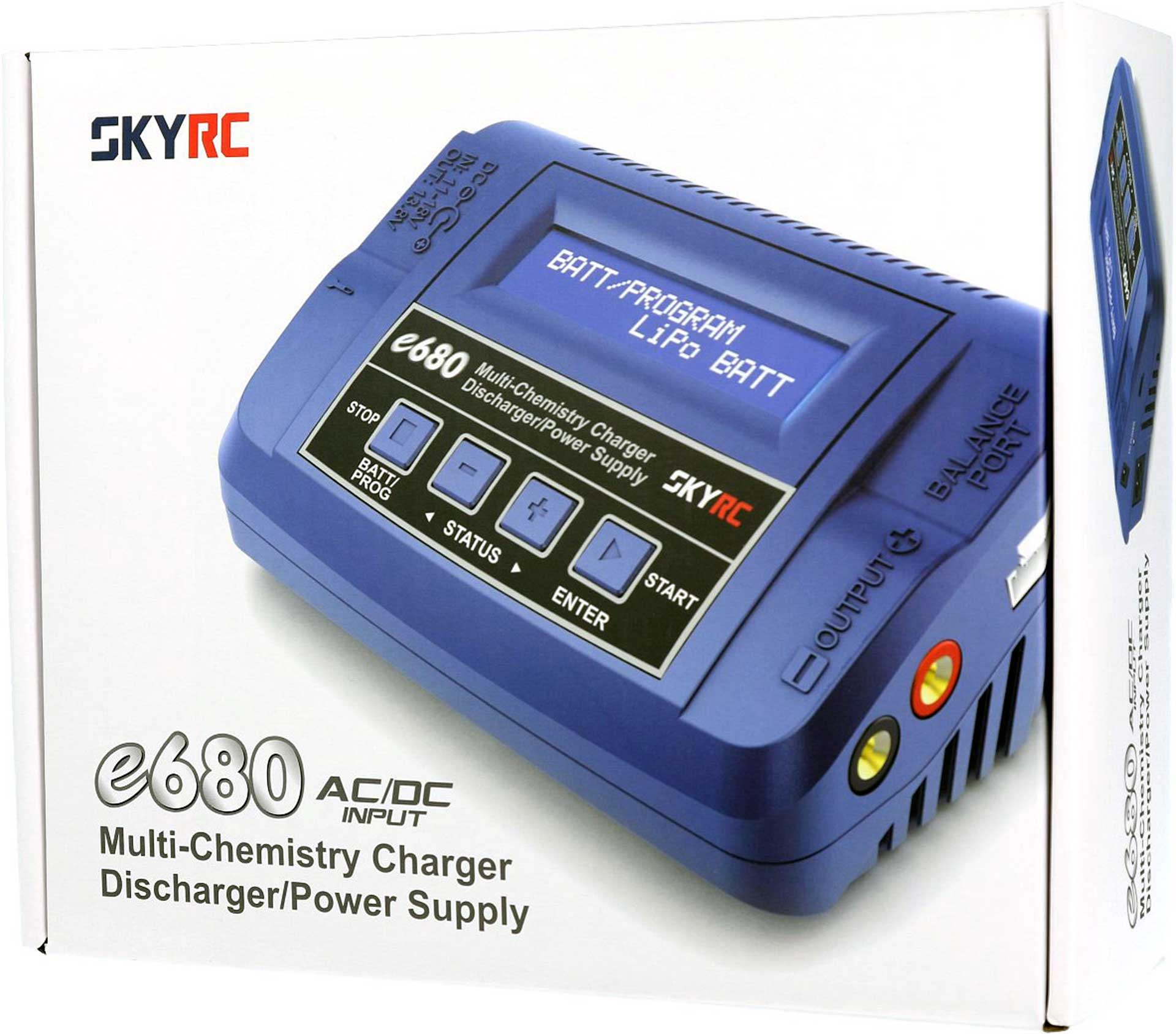 SKYRC E680 AC/DC CHARGER LIPO 1-6S 10A 80W