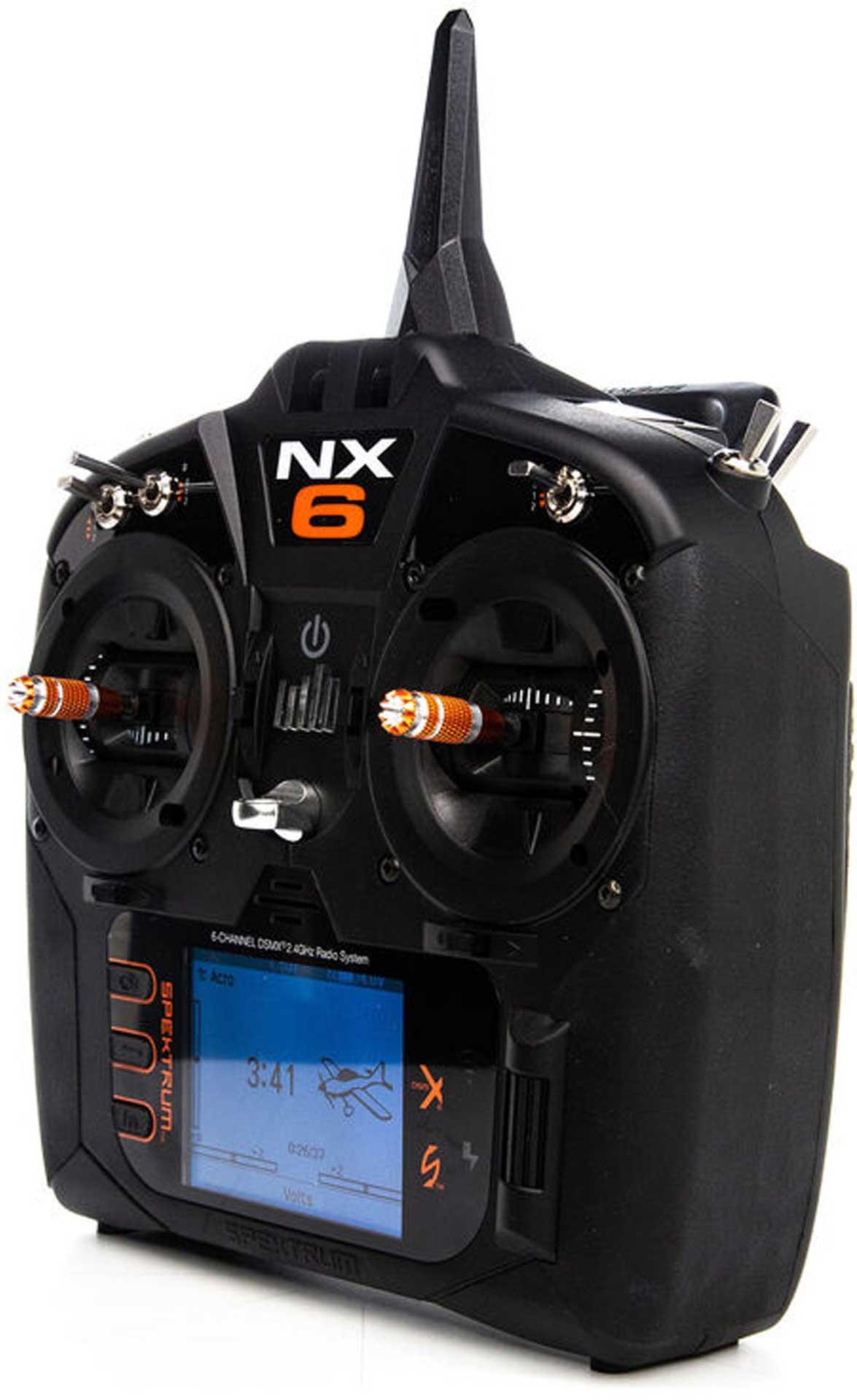 SPEKTRUM NX6 6-Kanal DSMX + AR6610T Empfänger 2,4Ghz Fernsteuerung