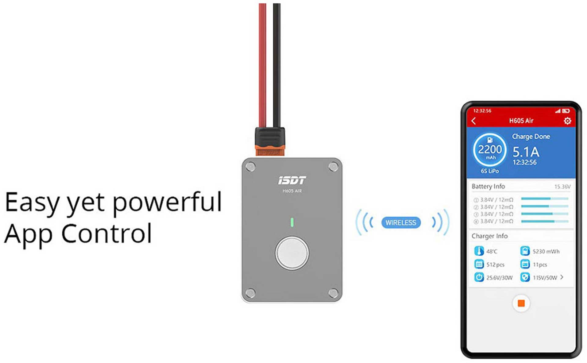 ISDT H605 AIR 50W 6S SMART CHARGER Ladegerät