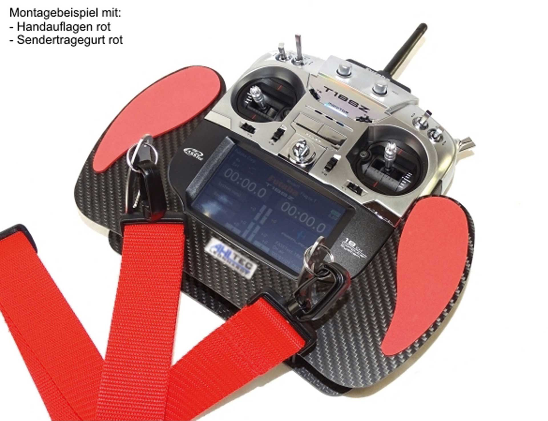 Handrest B Black for almost all AHLTEC Carbon Transmitter Consoles