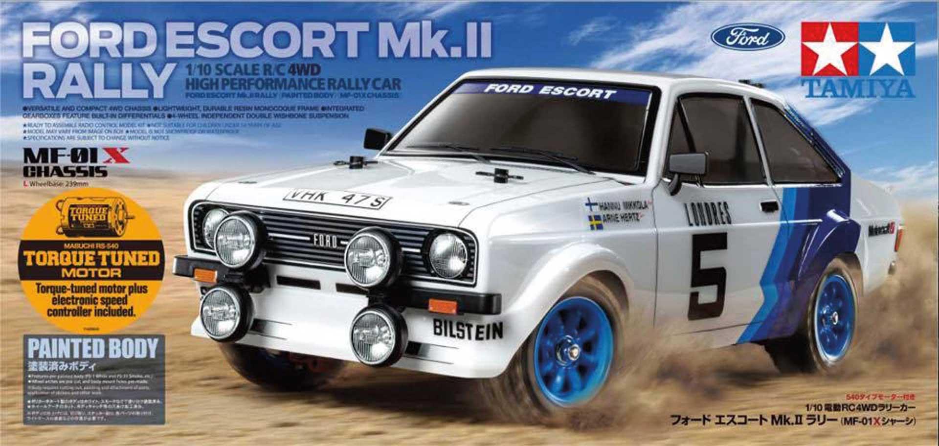 TAMIYA Ford Escort MkII Rallye MF-01X 1/10 4WD Kit (inkl. lackierter Karosserie)