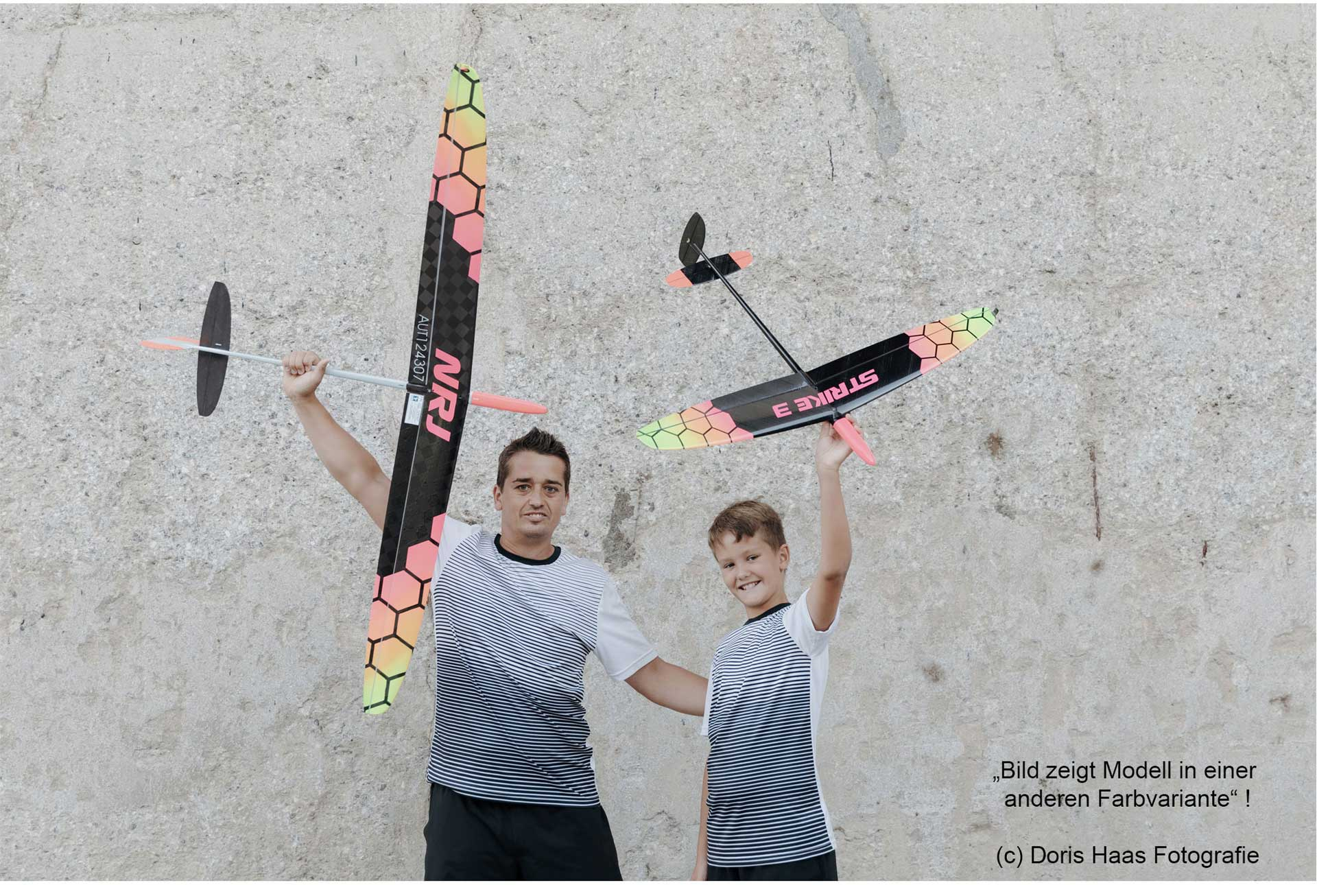 "OA-Composites Strike 3 Mini DLG Ejection Glider Colour # D (""Gears"")"
