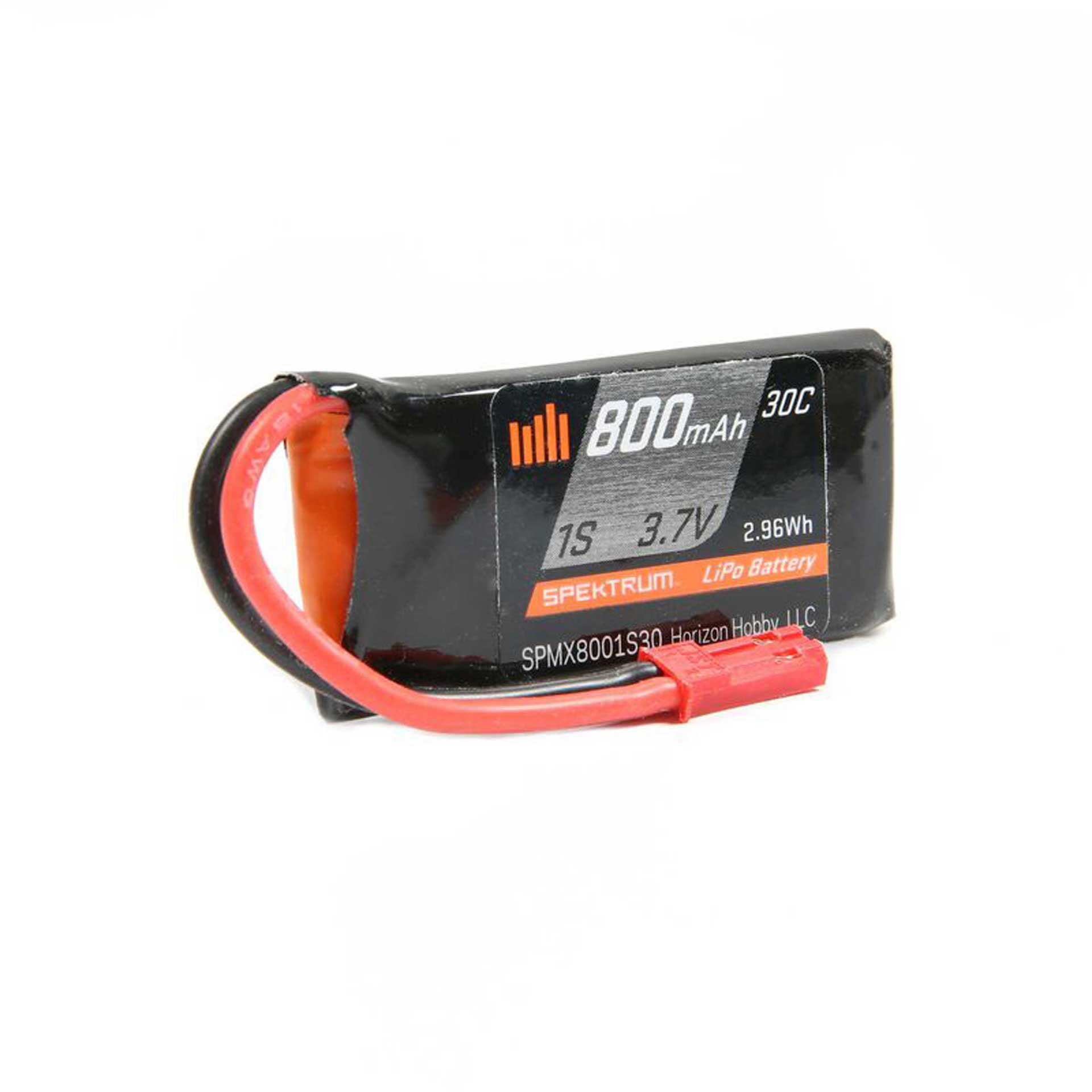 SPEKTRUM 800mAh 1S 3.7V 30C LiPo Battery JST