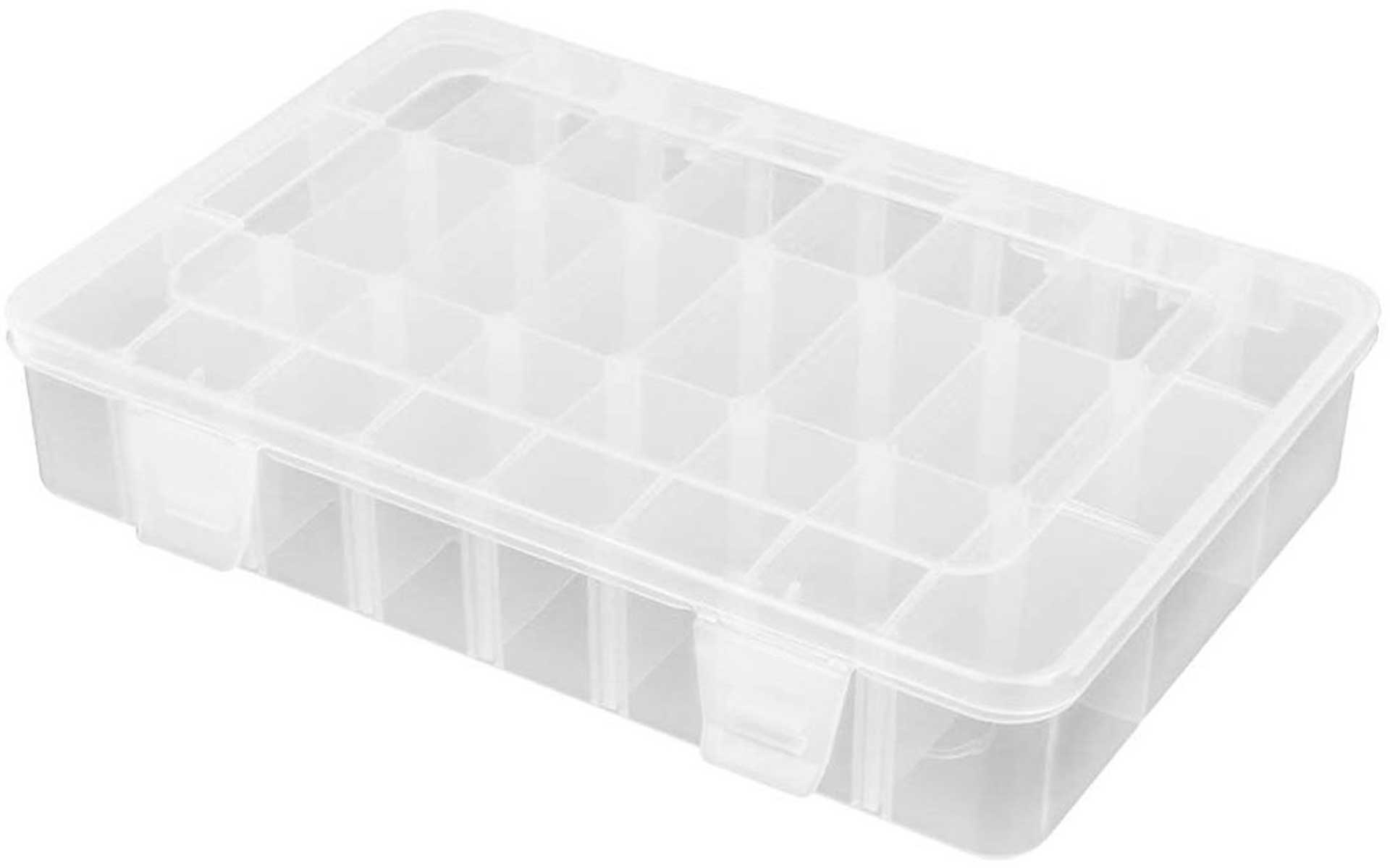 ROBITRONIC ASSORTMENT BOX 24 COMPARTMENTS 202X137X40MM VARIABLE