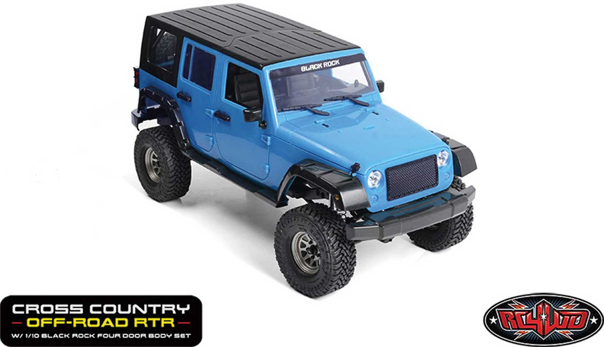 RC4WD Cross Country Off-Road Crawler RTR 1/10 incl. Black-Rock Four-door Model Body