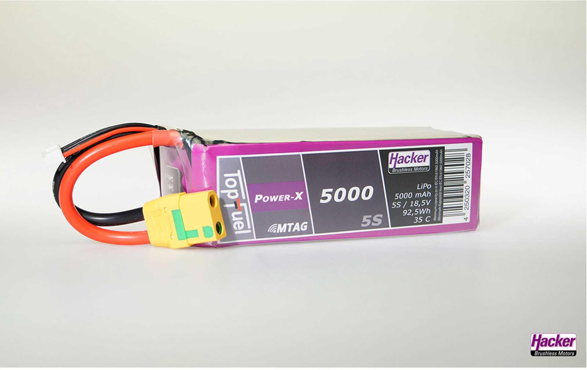 TOPFUEL LIPO 35C POWER-X 5000MAH 5S MTAG XT-90-S