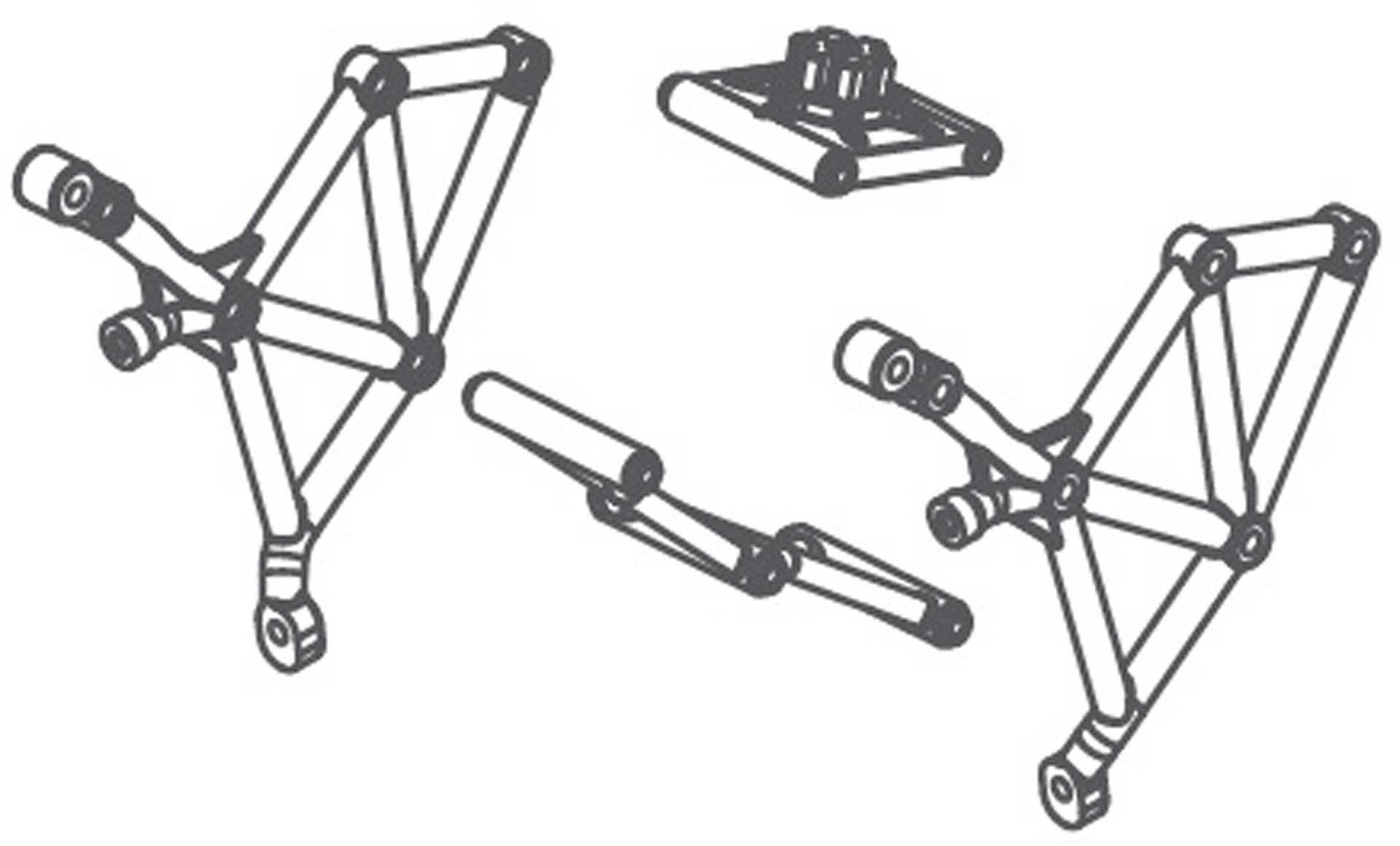Absima Ersatzradhalterung