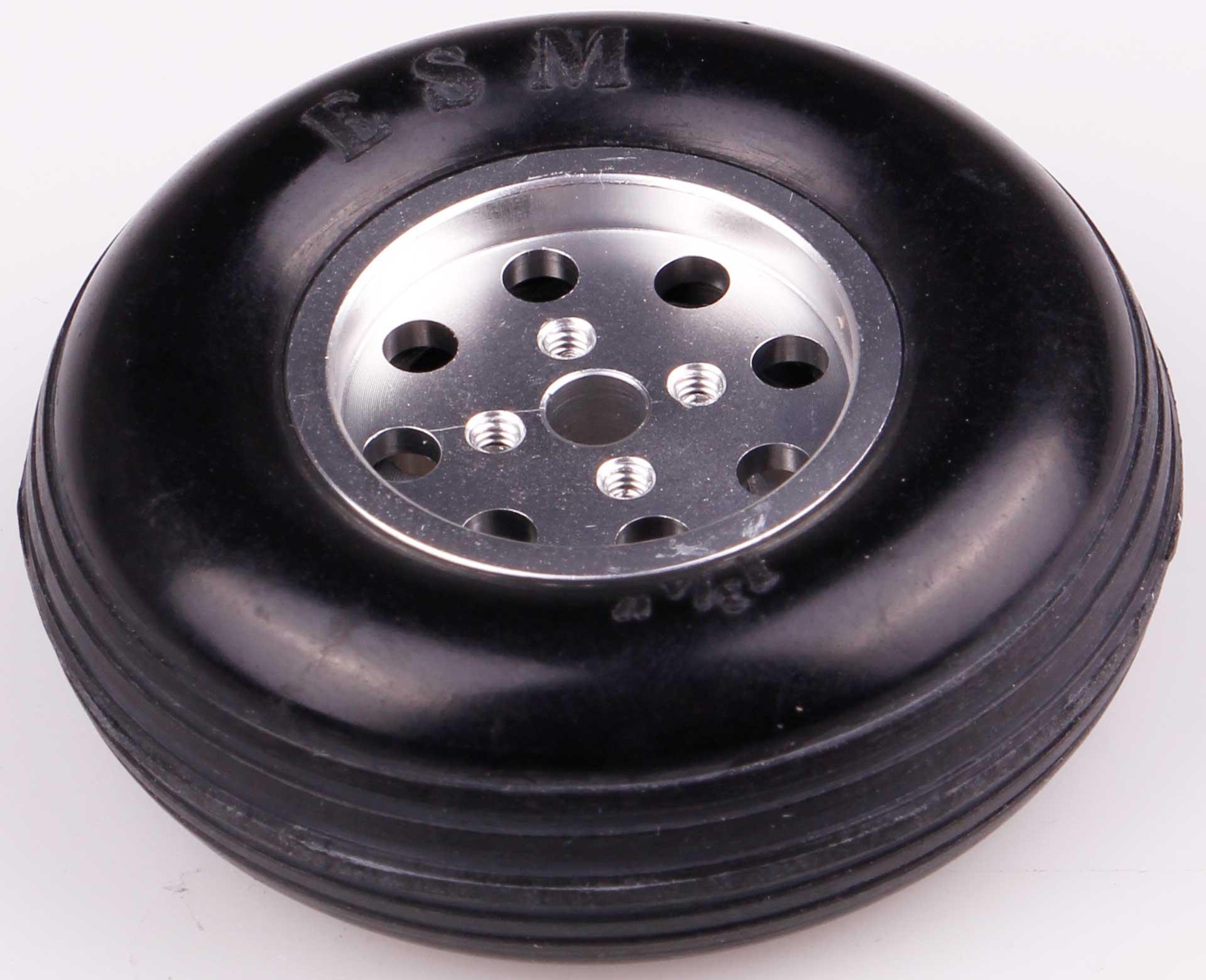 Robbe Modellsport Roue ø47x16mm ø4mm axe de roue avec jante en aluminium 22 Gramm 1Stk.