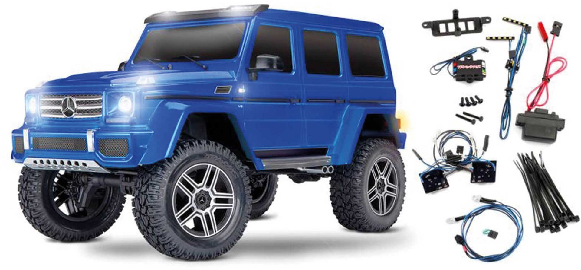 TRAXXAS TRX-4 MERCEDES G 4X4² Blue RTR withour Battery1/10 4WD SCALE-CRAWLER BRUSHED +