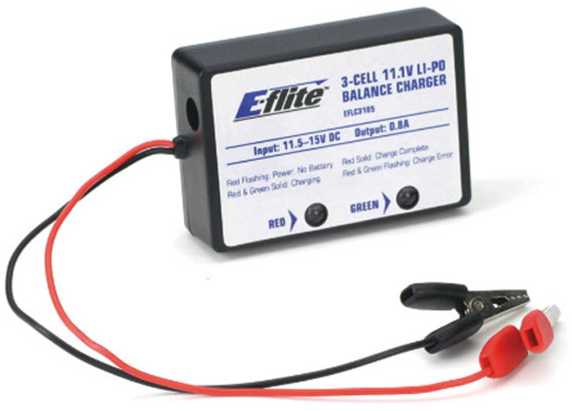 E-flite 0,8A 3S LiPo-Ladegerät
