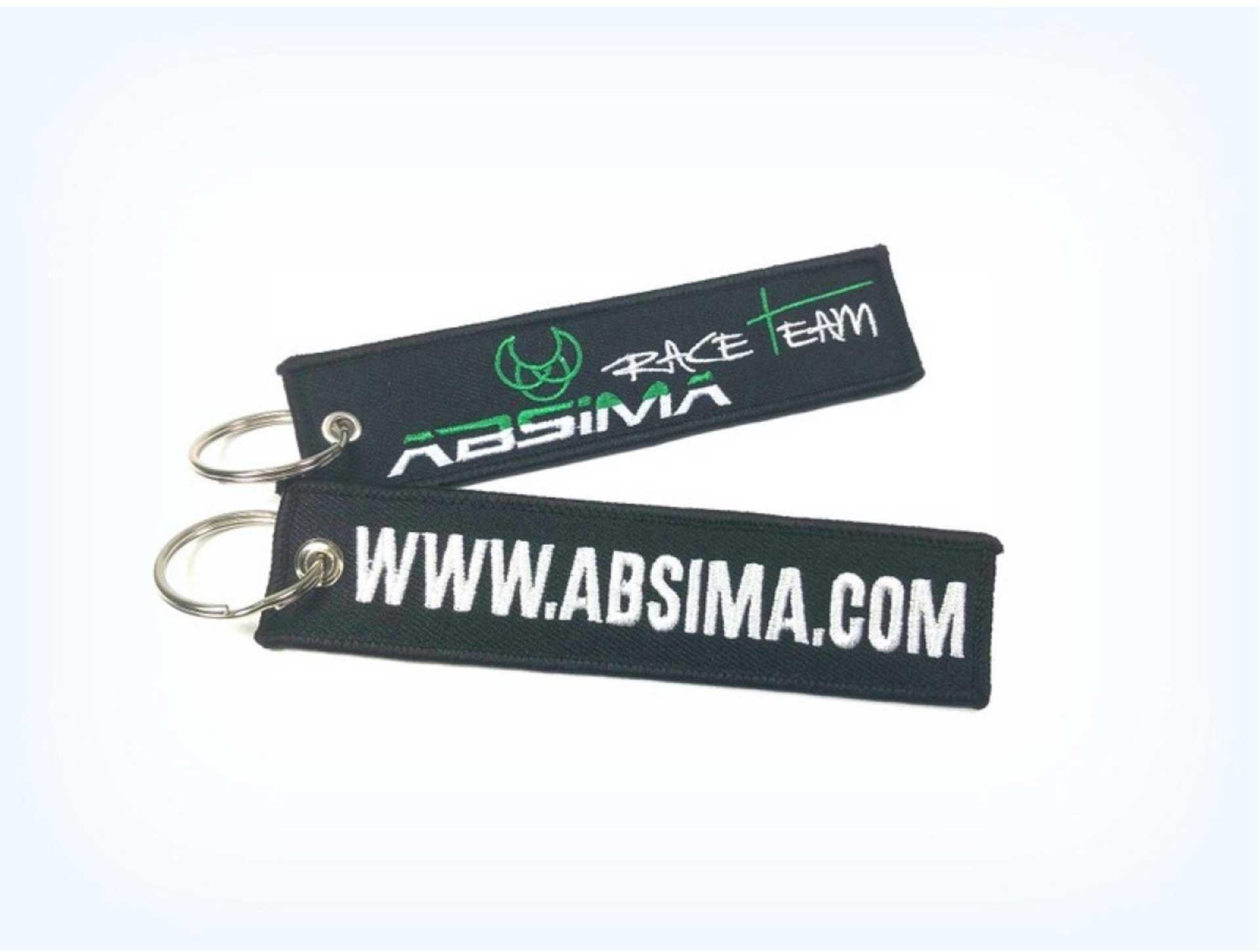 """Keyring """"Absima"""" Logo 13x3cm 1Stk."""
