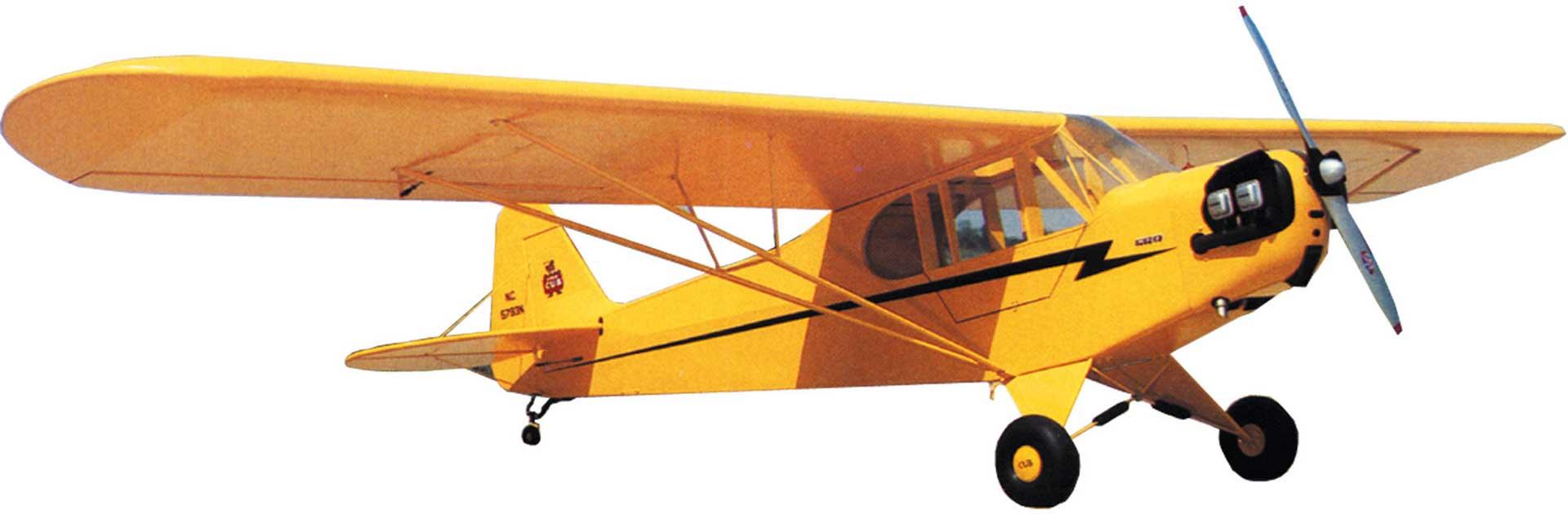 SIG PIPER J-3 CUB 2,15M 1/5 HOLZBAUSATZ