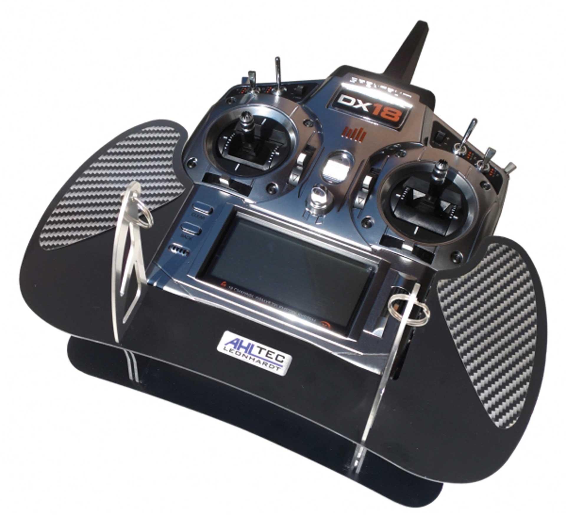AHLTEC Senderpult Spektrum DX18 & DX18 QQ CARBON mit Standard Senderpultbügel, ohne Handauflagen
