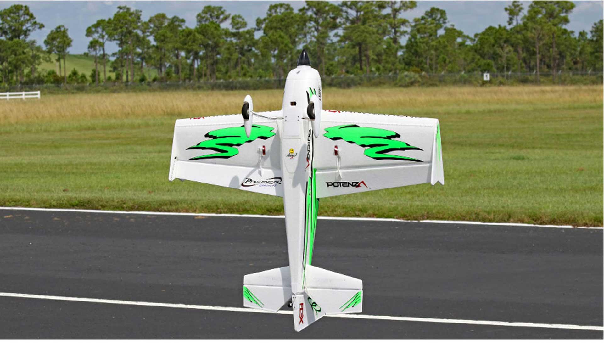 PREMIER AIRCRAFT QQ EXTRA 300 V2 GREEN/BLACK SUPER PNP WITH AURA 8