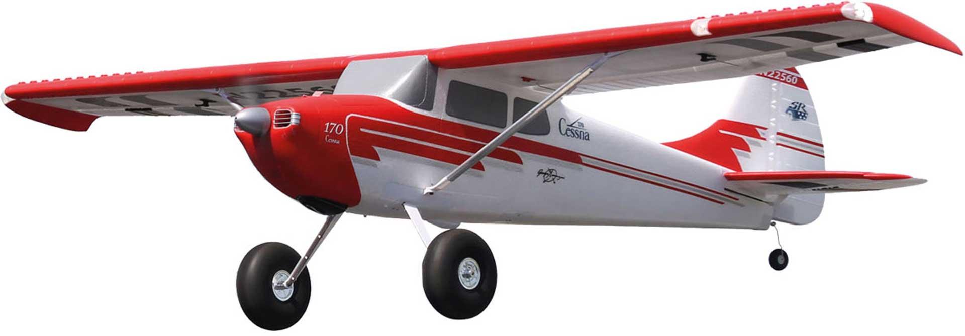 PREMIER AIRCRAFT CESSNA 170 SUPER PNP ROT/WEISS M. AURA 8 UND POSITIONSBELEUCHTUNG