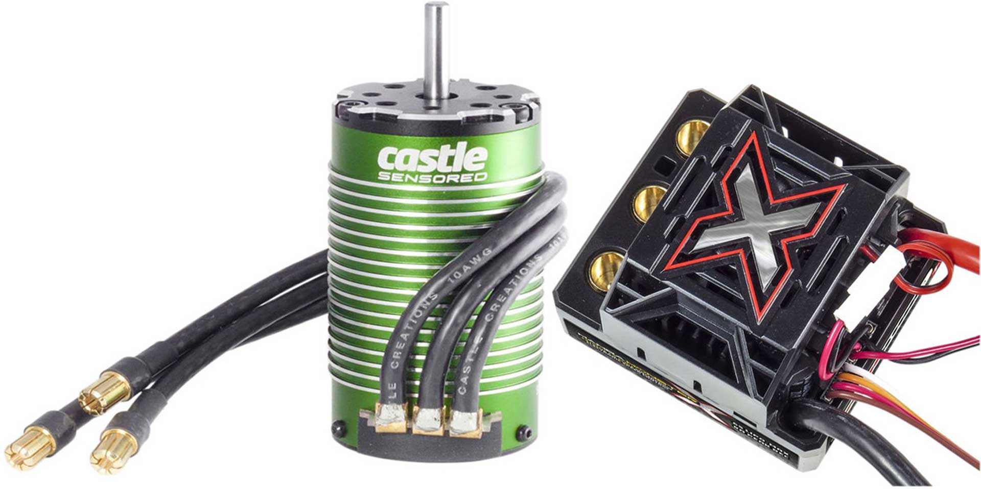 CASTLE CREATION MAMBA MONSTER X COMBO 1/8 EXTREME BRUSHLESS CAR CONTROLLER WITH 1512-1800 SENSORED MOTOR