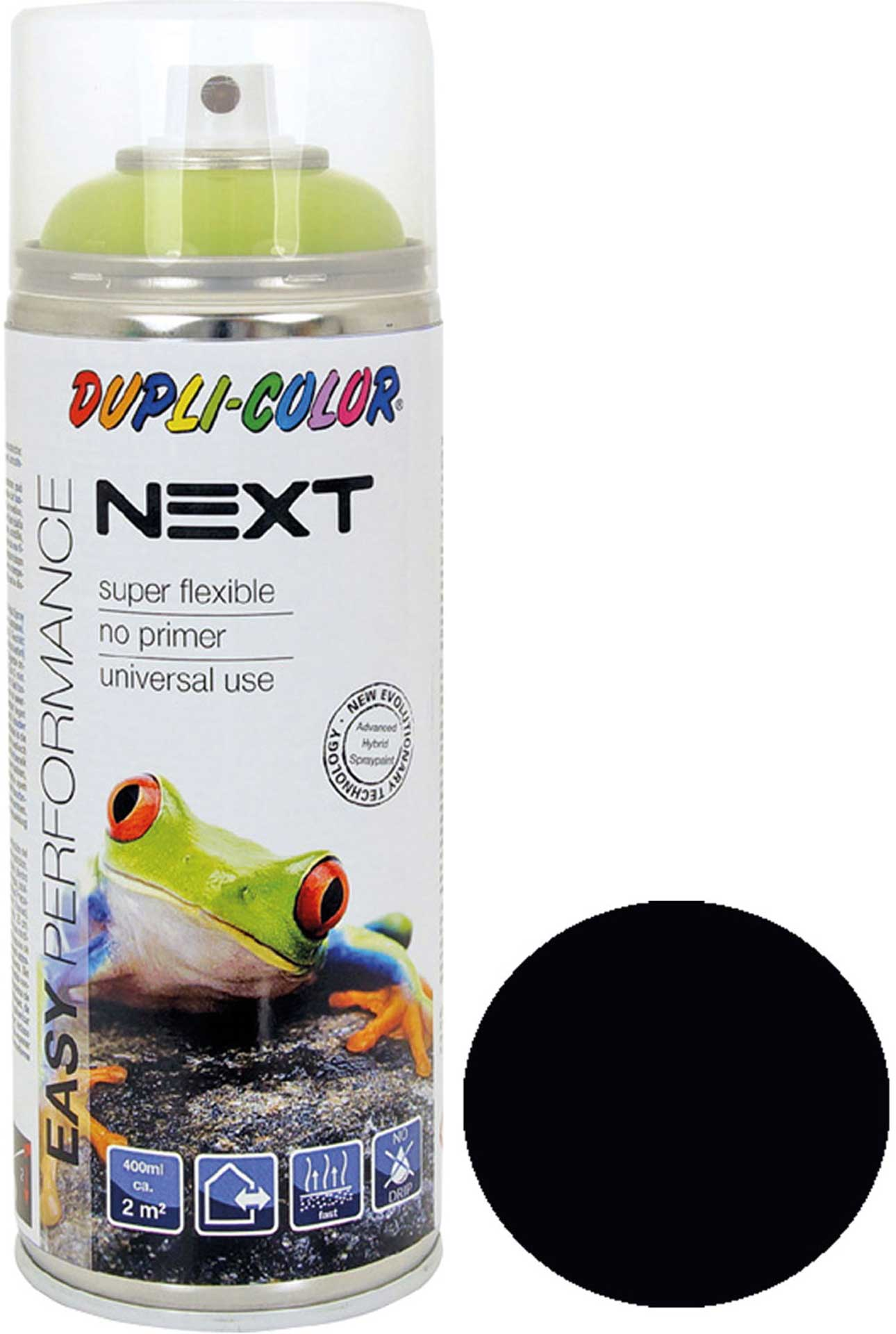 DUPLI-COLOR NEXT RAL 9005 DEEP BLACK MATT 400ML SPRAY LACQUER