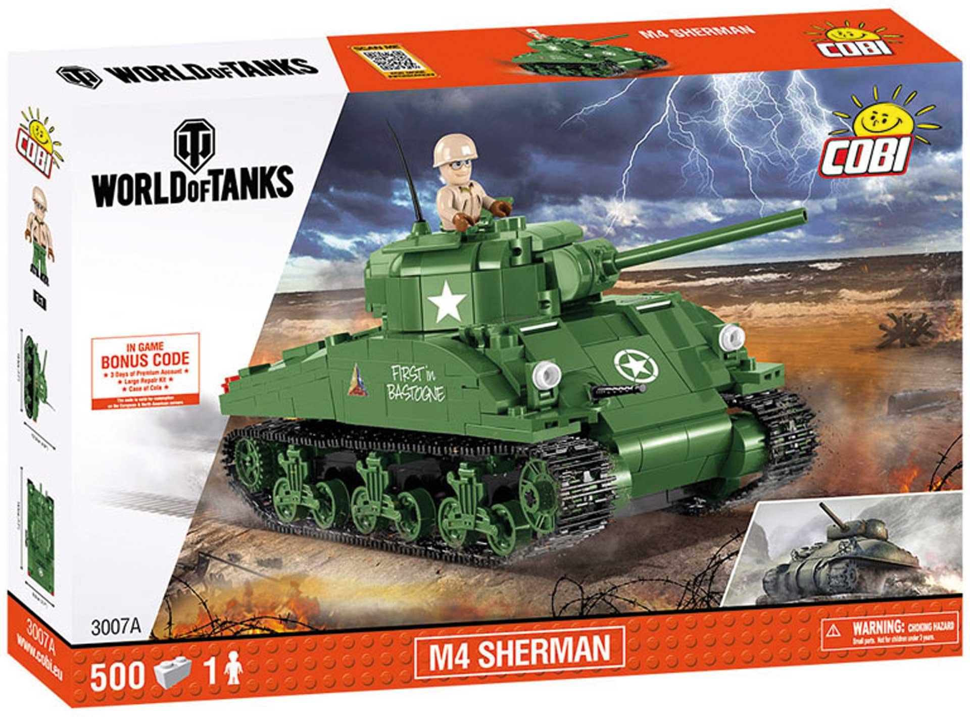 COBI M4 Sherman (500 Teile) (World of Tanks) Klemmbausteine