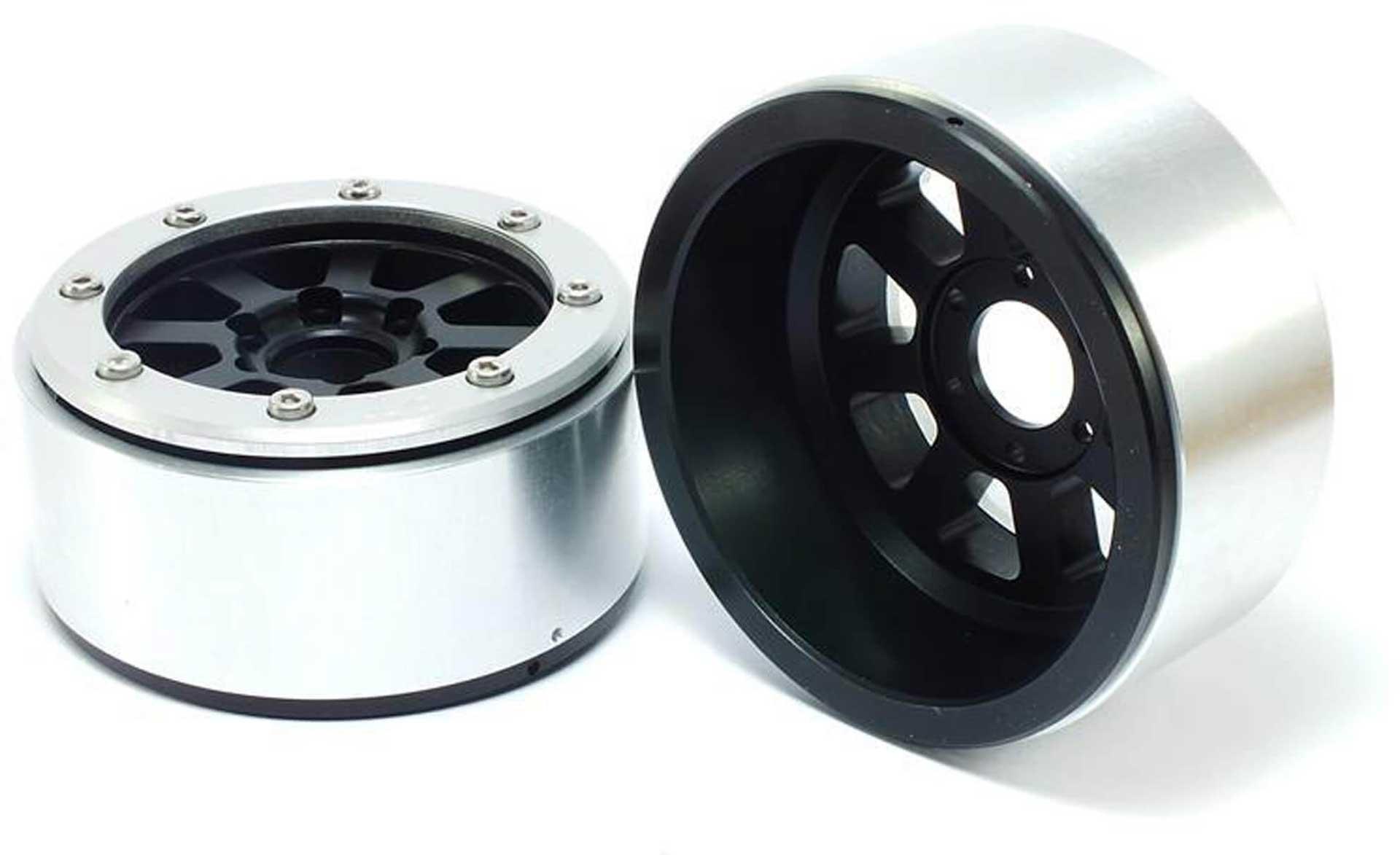 Metsafil Beadlock Wheels HAMMER schwarz/silber 1.9 (2 St.) ohne Radnabe