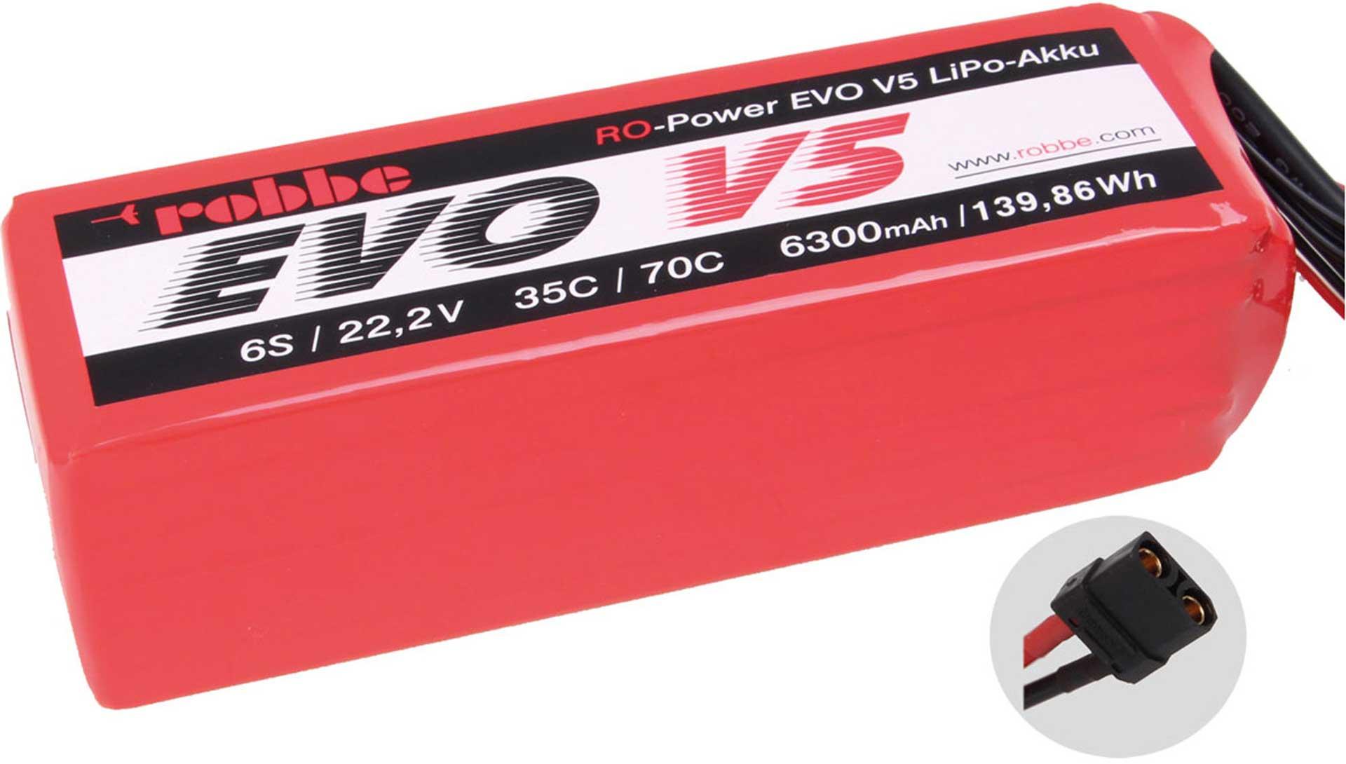 ROBBE RO-POWER EVO V5 35(70)C 22,2 VOLT 6S 6300MAH LIPO BATTERY
