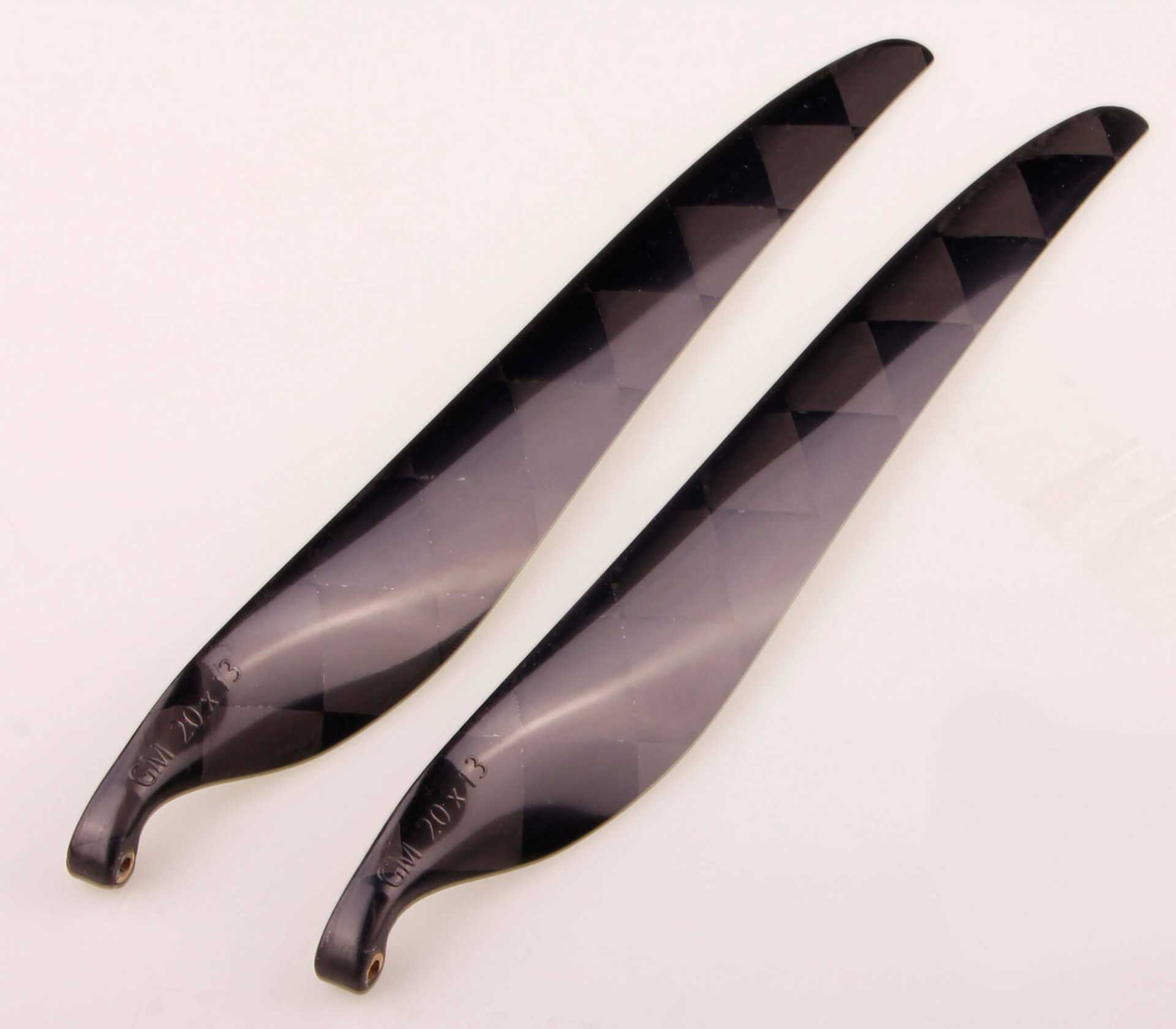 GM Propellers Folding propeller 20x13 Carbon black 1 pair