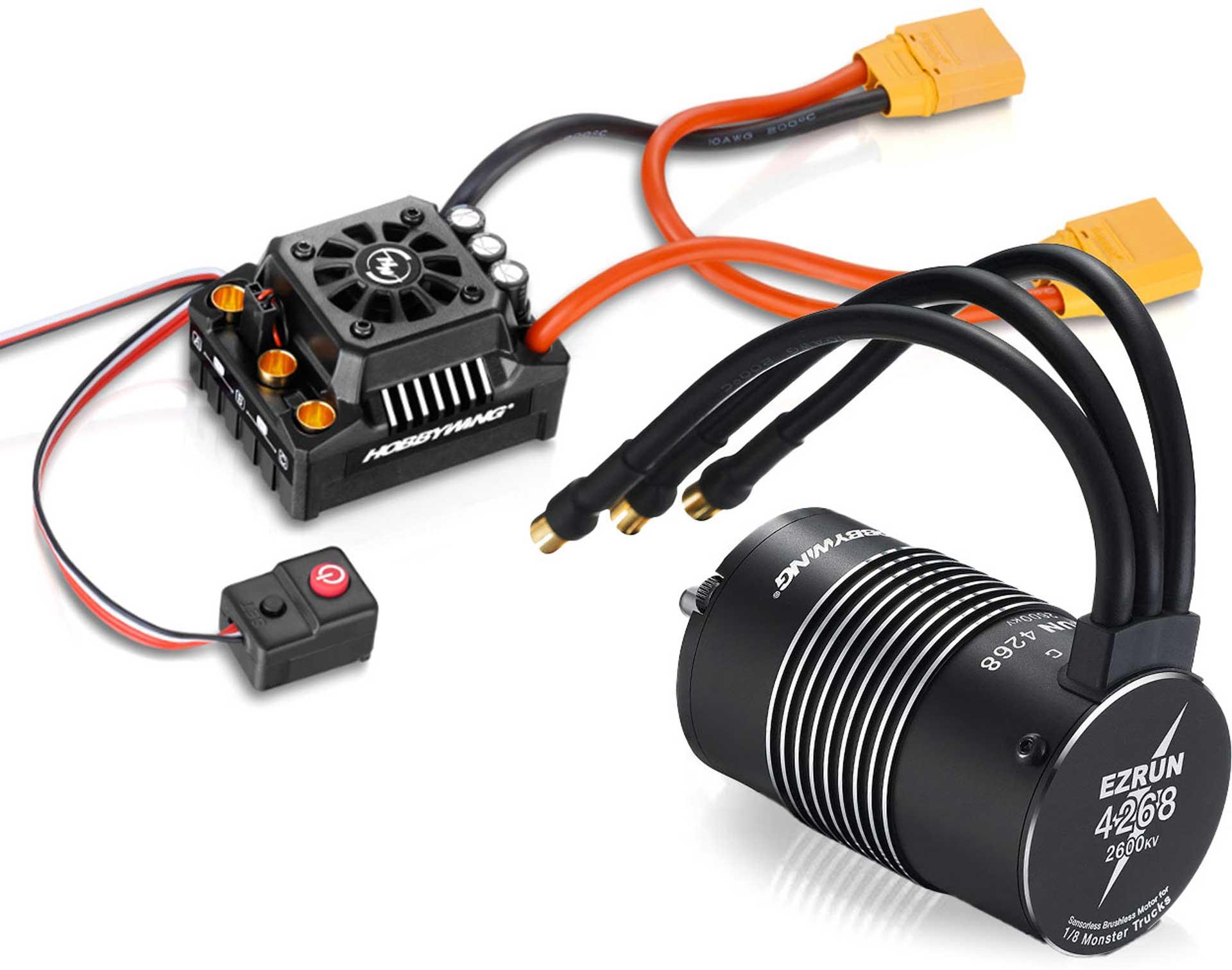 HOBBYWING Ezrun MAX8 Combo mit SL-4268-2600kV Sensorless 1/8