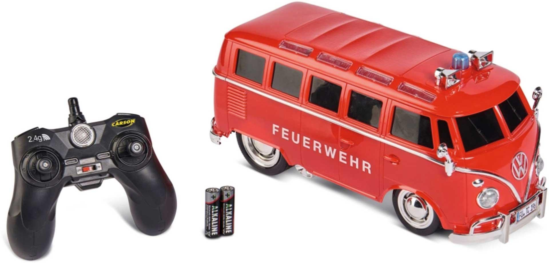 CARSON 1:14 VW T1 Samba Bus Fire Brigade 100% RTR