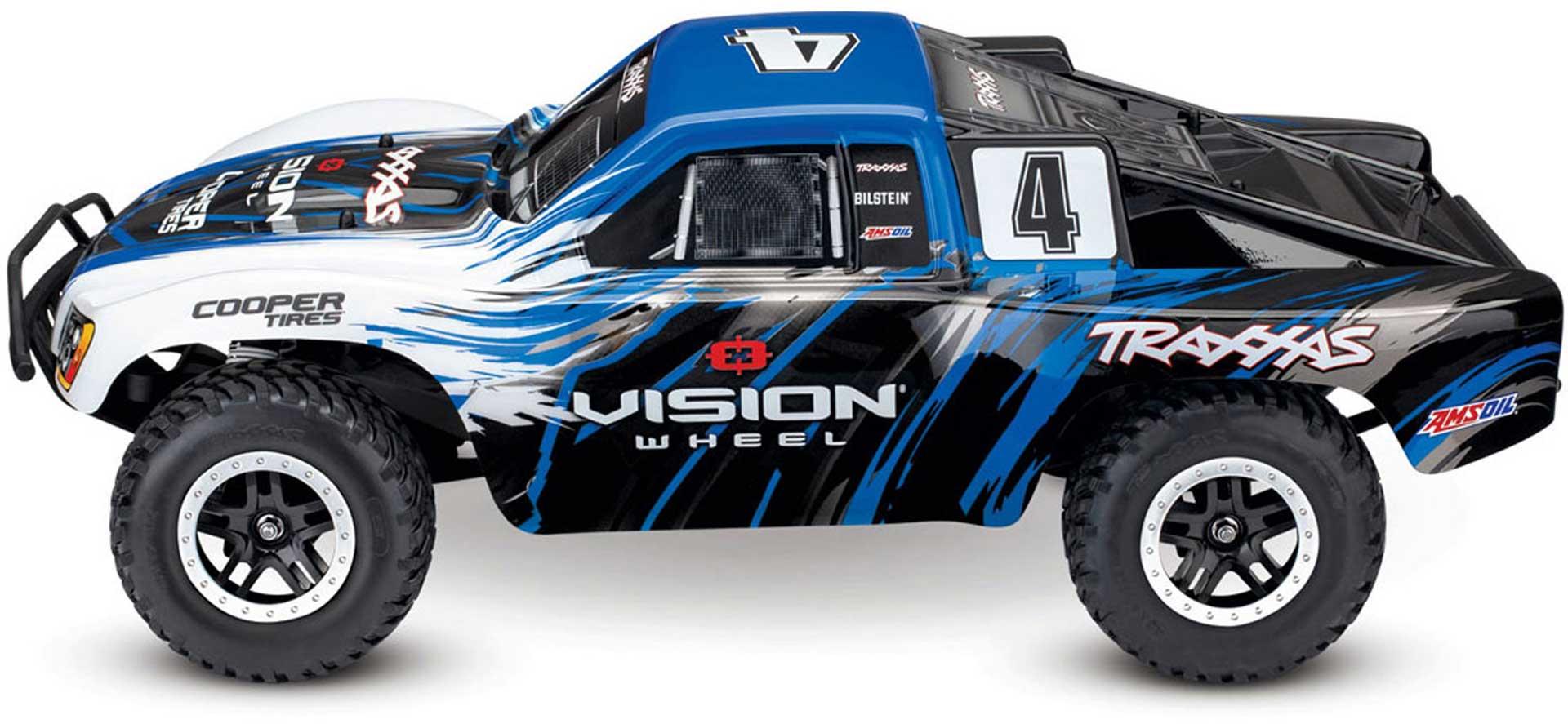 TRAXXAS SLASH 4X4 VXL VISION RTR 1/10 BRUSHLESS SHORT COURSE TRUCK BLUE/WHITE