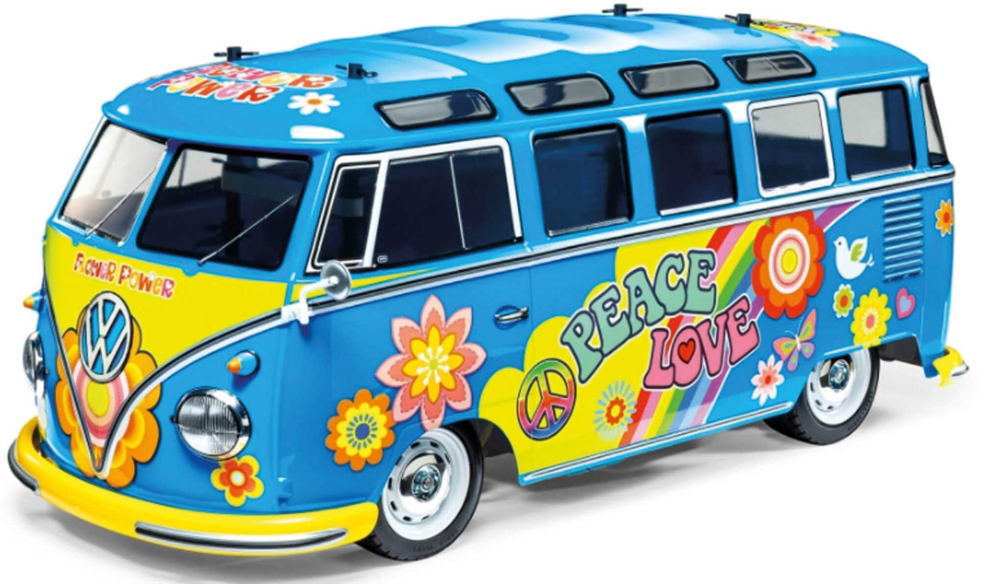 TAMIYA VW Bus Type 2 T1 Flower Power 1/10 2WD EP KIT incl. painted body M-05