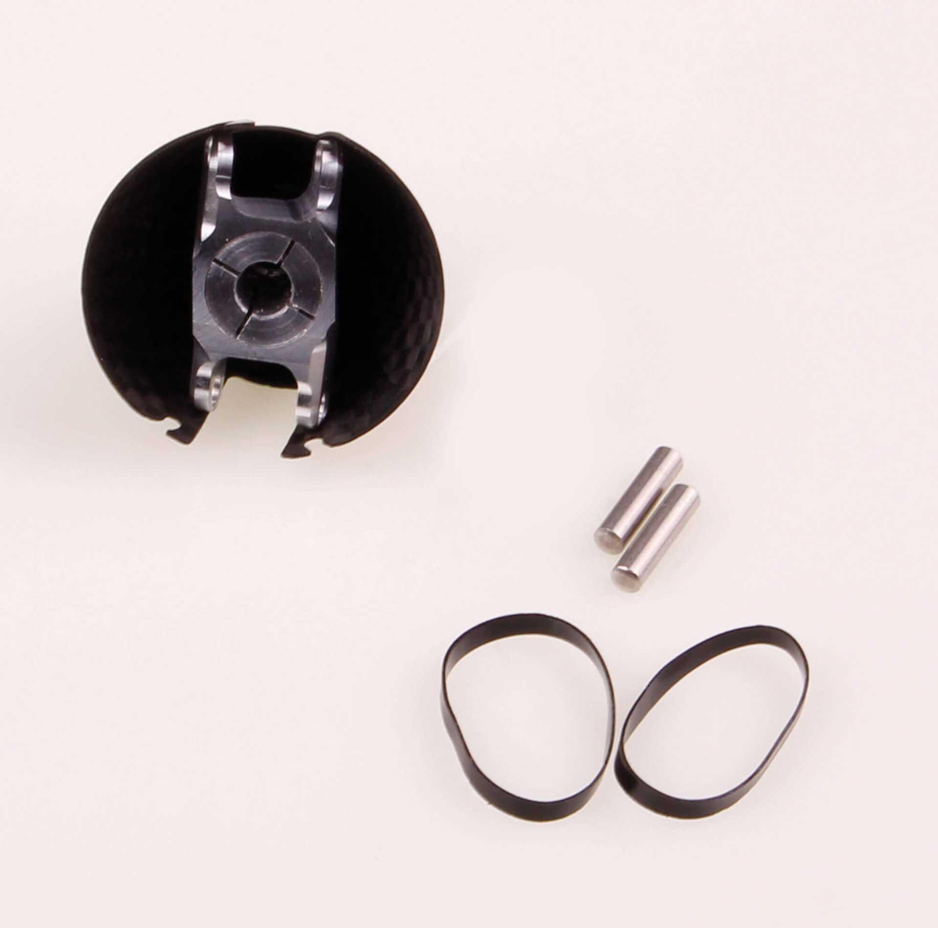 GM Propellers Spinner F5J ø 32mm Diameter, motor shaft ø 6mm Competition Carbon black