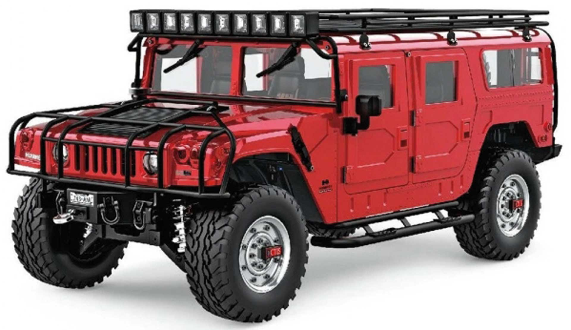 FM-ELECTRICS Hummer H1 1/10 XL Scale SUV rot 4WD RTR