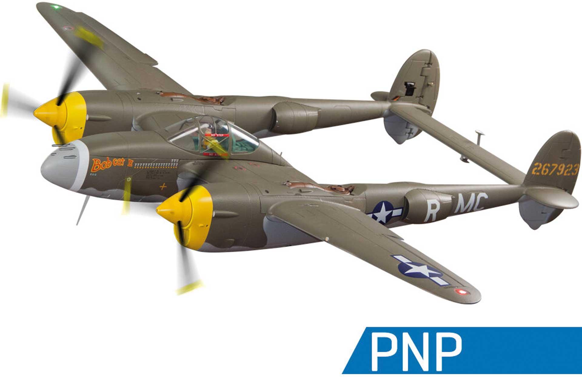 FREEWING P-38L Lightning 1600mm grün PNP FlightLineRC Warbird