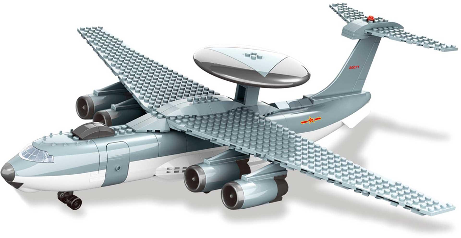 Wange KJ-2000 Frühwarnflugzeug (199 Teile) Klemmbausteine