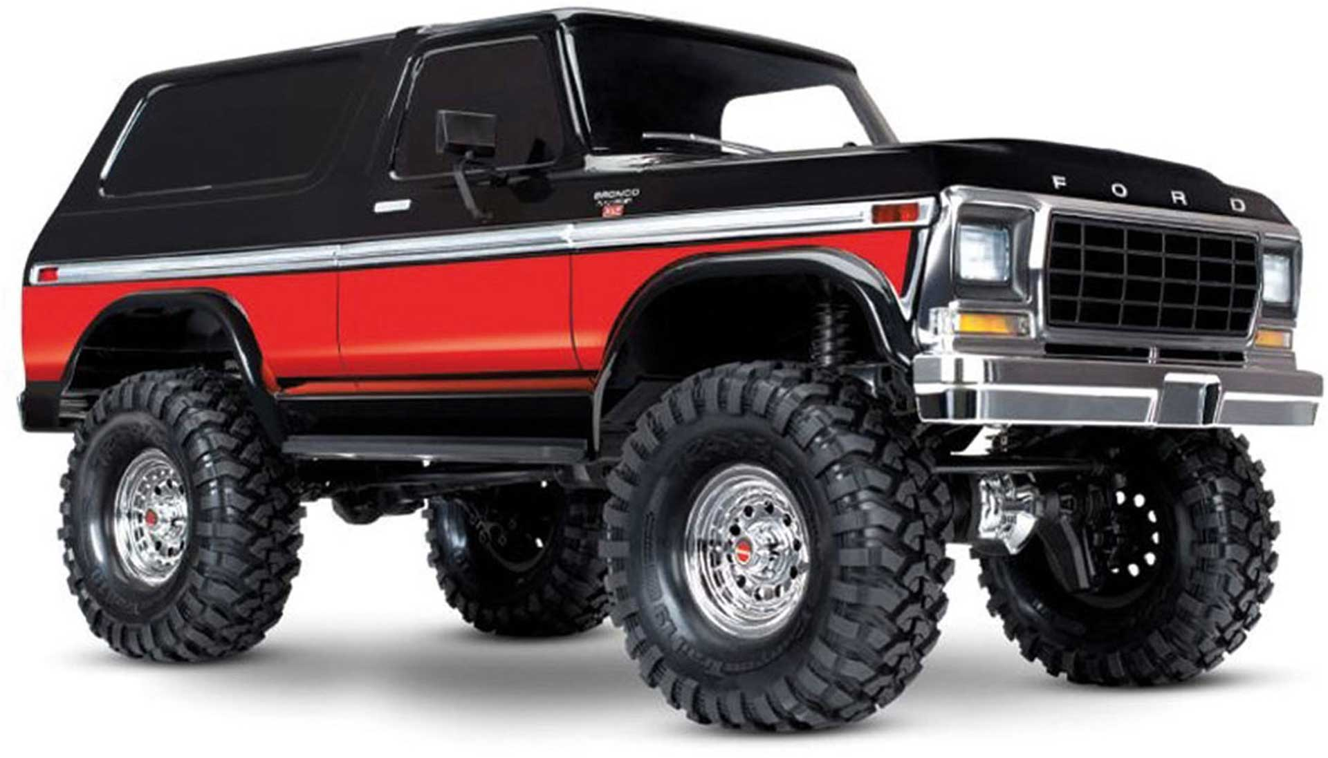 TRAXXAS TRX-4 FORD BRONCO BLACK/RED RTR 1/10 CRAWLER 2,4GHZ WITHOUT BATTERY & CHARGER