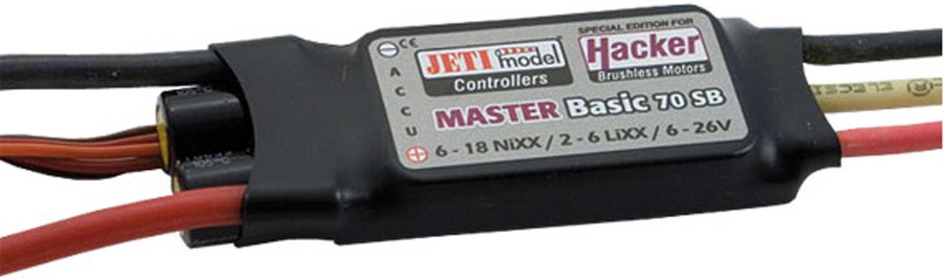 HACKER MASTER BASIC 70 SB BEC BRUSHLESS ESC