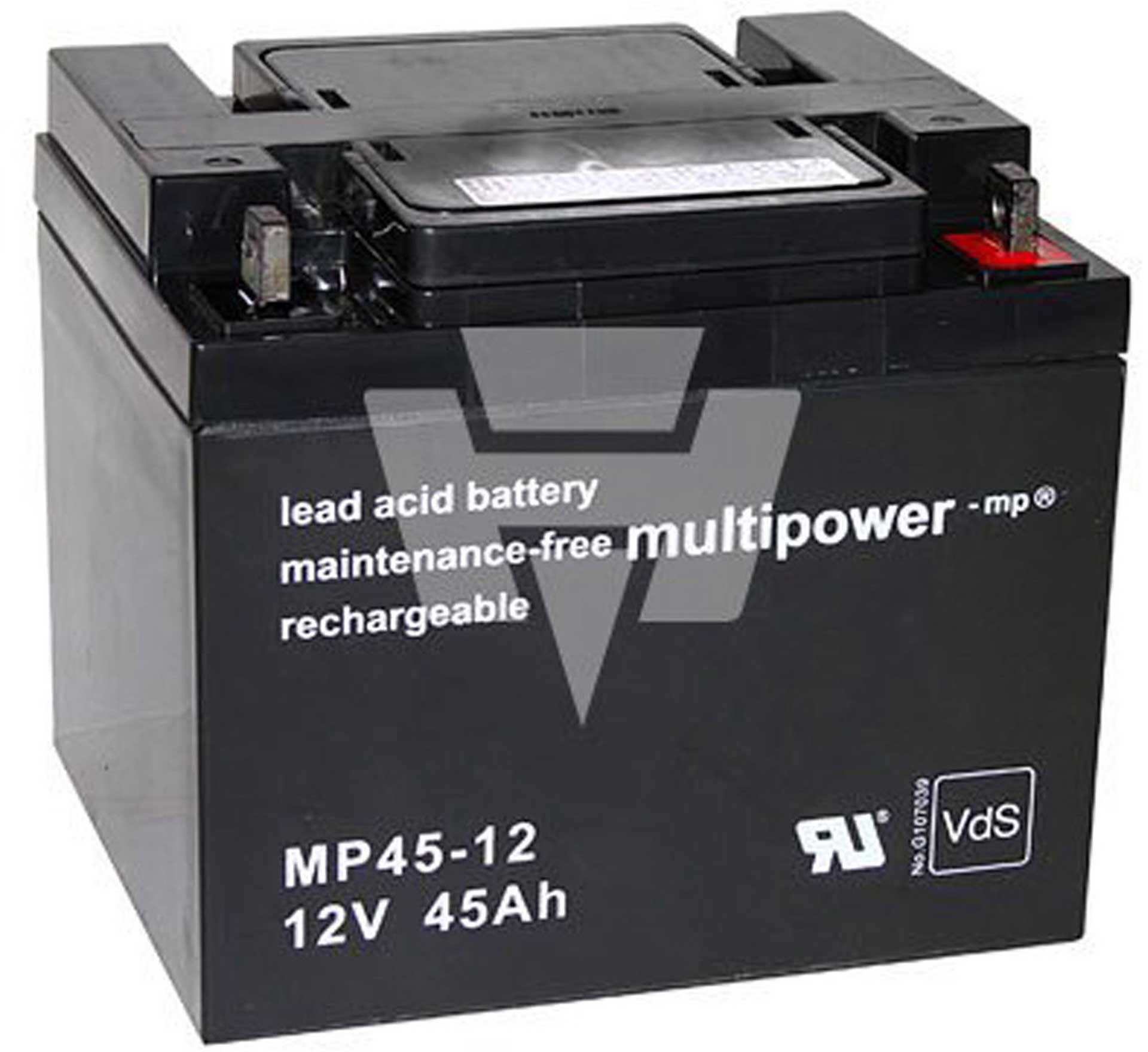 MULTIPOWER LEAD ACID BATTERY MP45-12 PB 12V 45000M AH MBL 12/45AH/VDS