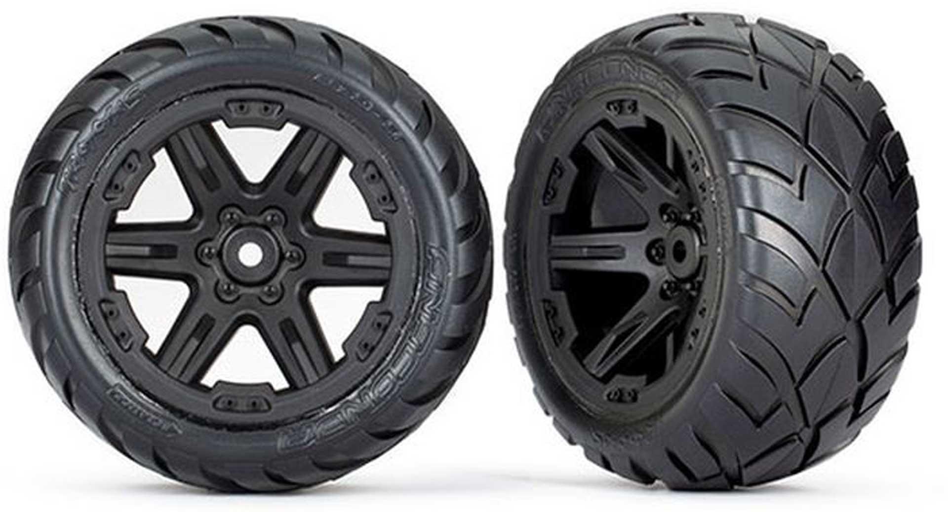 TRAXXAS REIFEN AUF FELGE 2.8 RXT SCHWARZ / ANACONDA (TSM RATED) TRAXXAS 2WD H