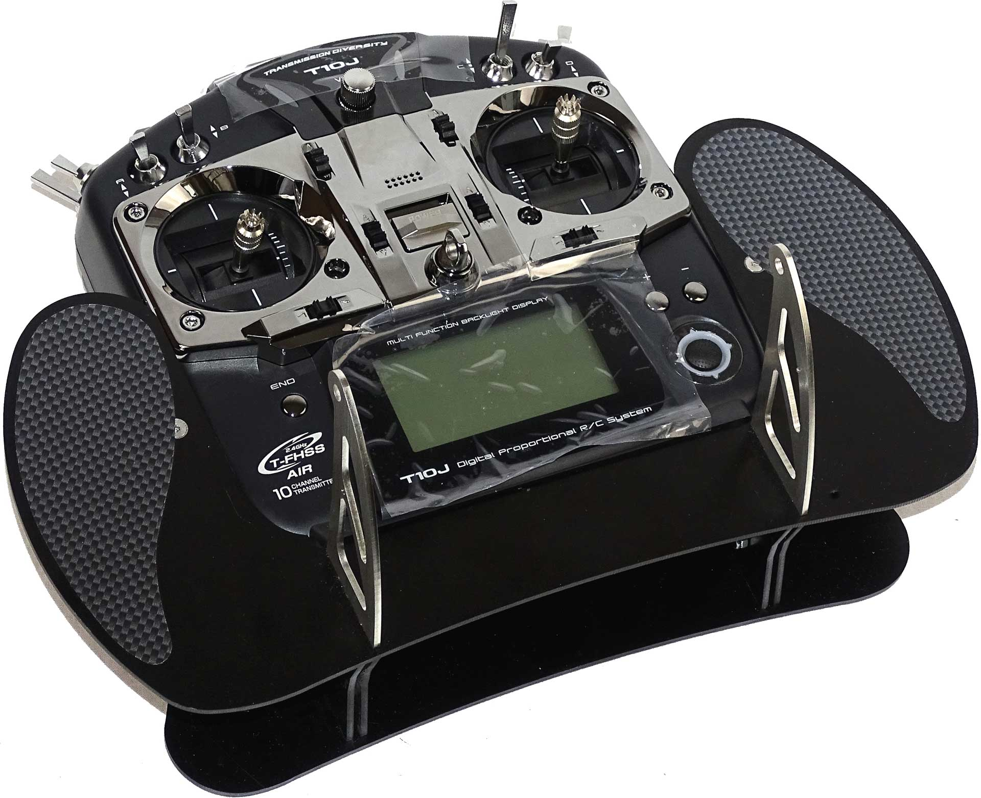 AHLTEC Senderpult Futaba T10J Black mit Standard Senderpultbügel, ohne Handauflagen