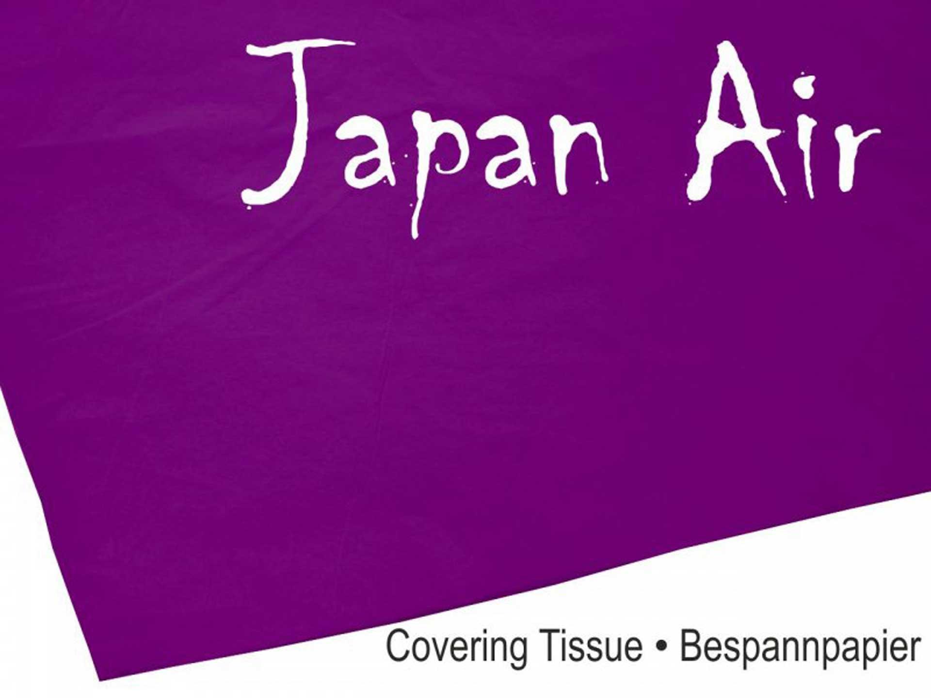 MODELLBAU LINDINGER JAPAN AIR Bespannpapier 16g lila 500 x 750 mm 10Stk. gerollt
