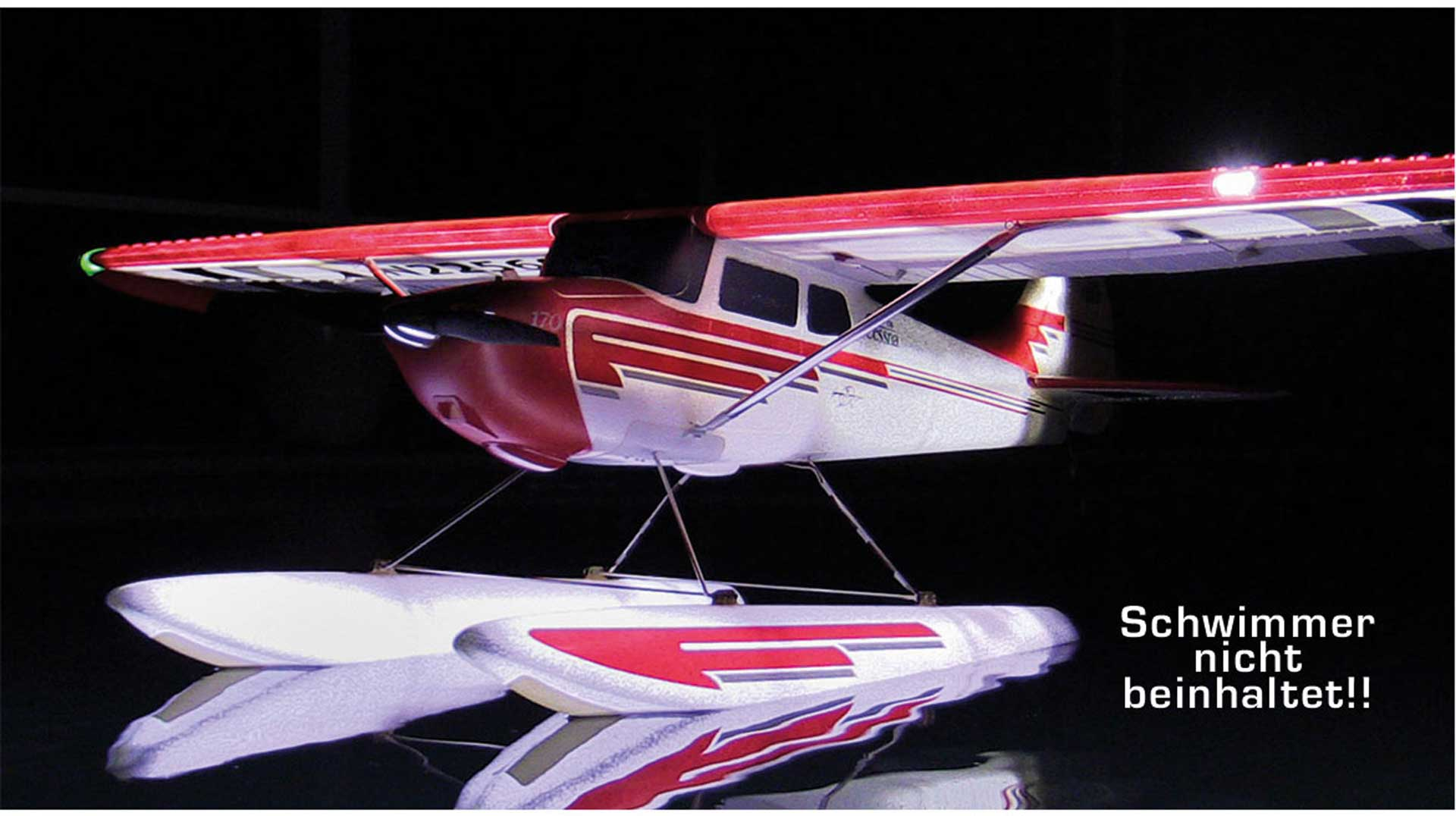 PREMIER AIRCRAFT CESSNA 170 SUPER PNP NIGHT WITH AURA 8, POSITION AND NIGHT LIGHTING