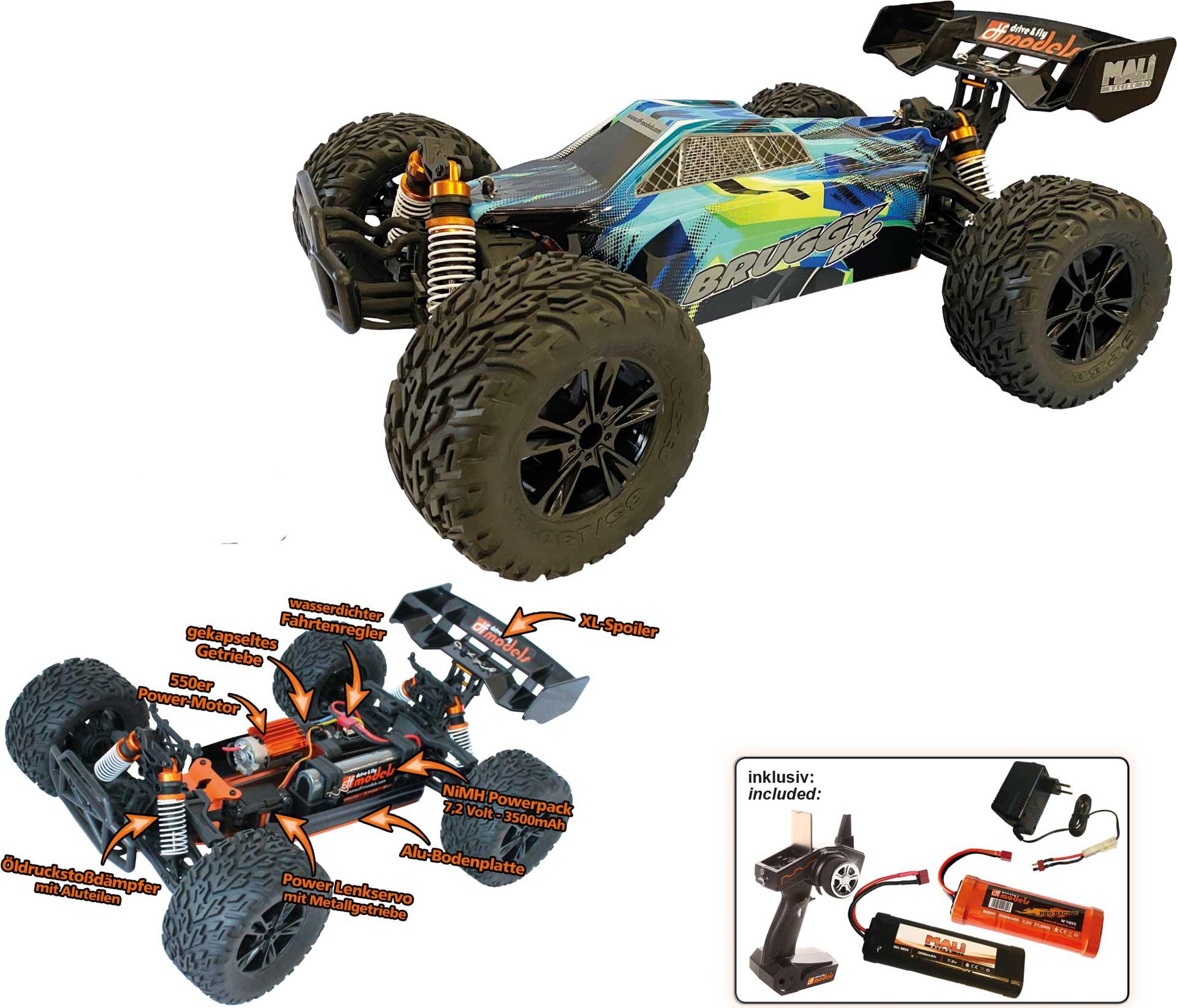 DRIVE & FLY MODELS Bruggy BR brushed 1/10XL RTR EP 4WD inklusive 2. Akku gratis