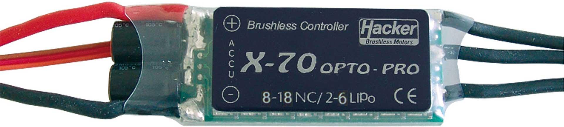 X-70 PRO OPTO BRUSHLESS REGLER HACKER