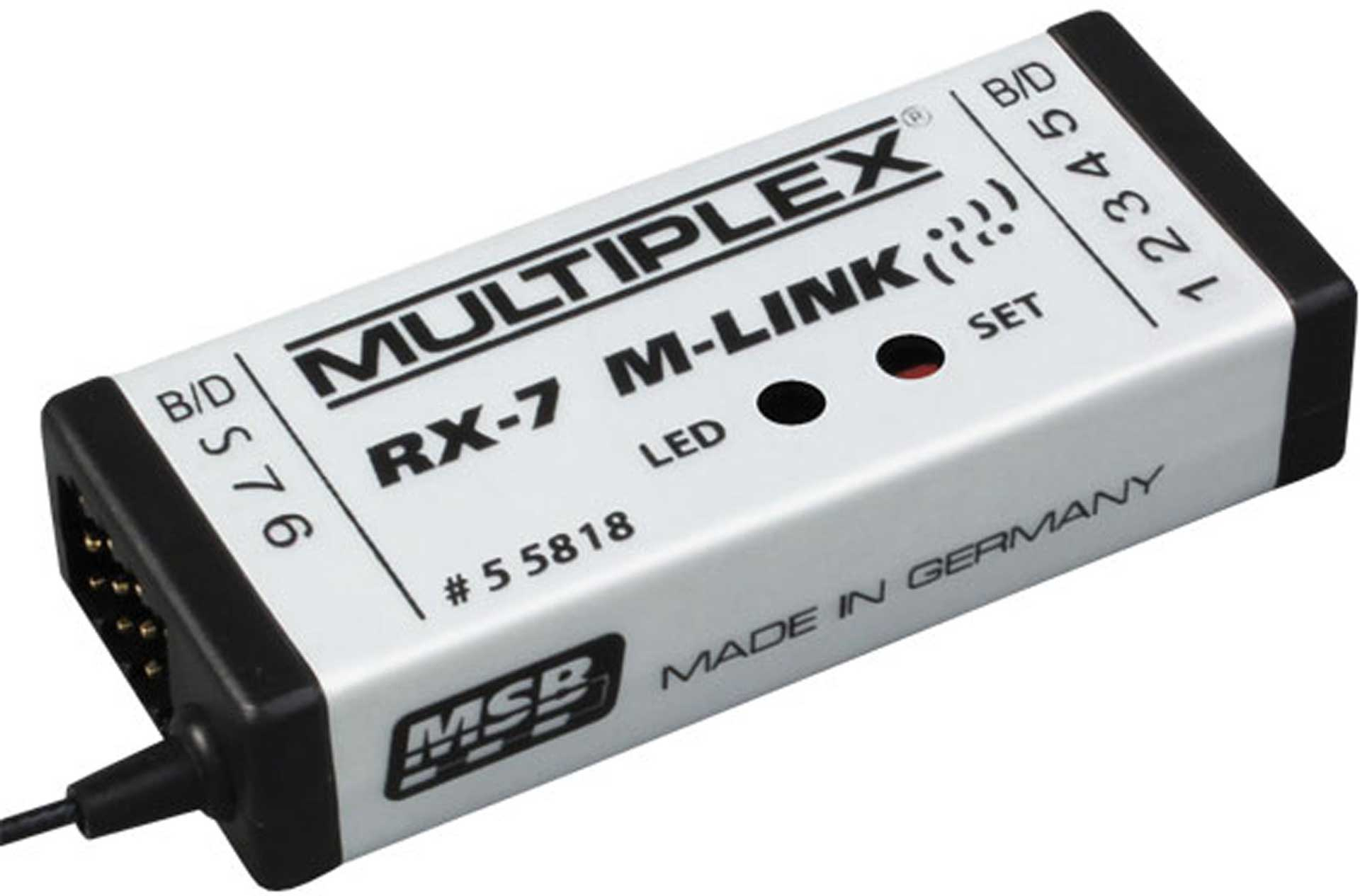 MULTIPLEX RX-7 2,4GHZ M-LINK 7K RECEIVER