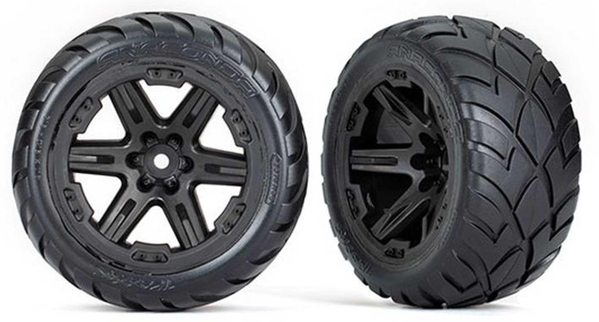 TRAXXAS REIFEN AUF FELGE 2.8 RXT SCHWARZ / ANACONDA (TSM RATED) TRAXXAS 4WD V/H 2WD V