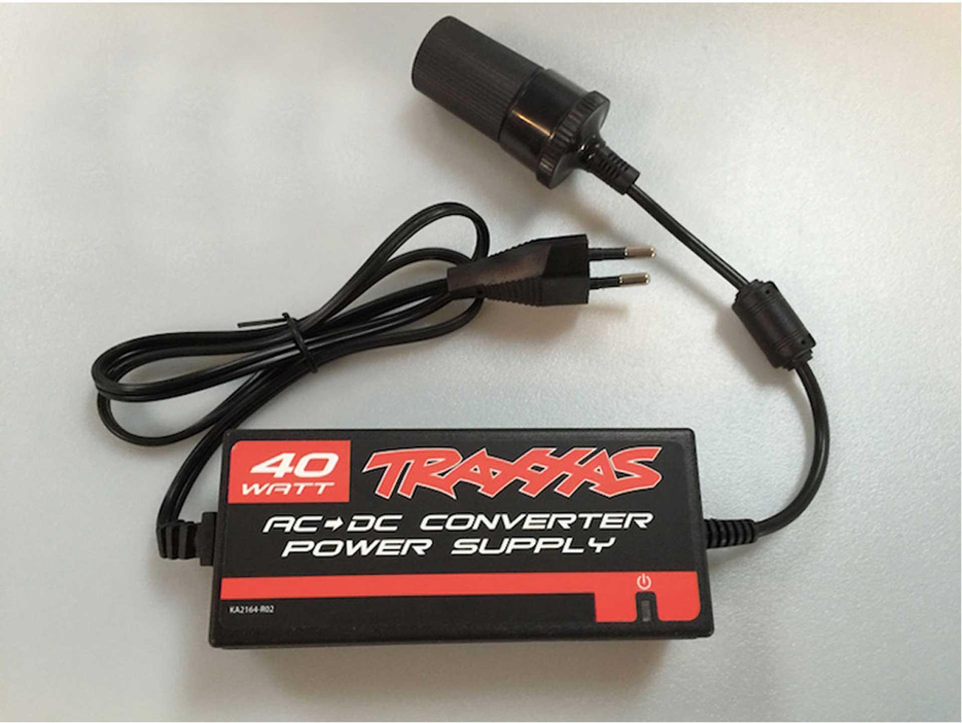 TRAXXAS AC->DC Adapter, 40W (Netzteil für 12V-Lader)