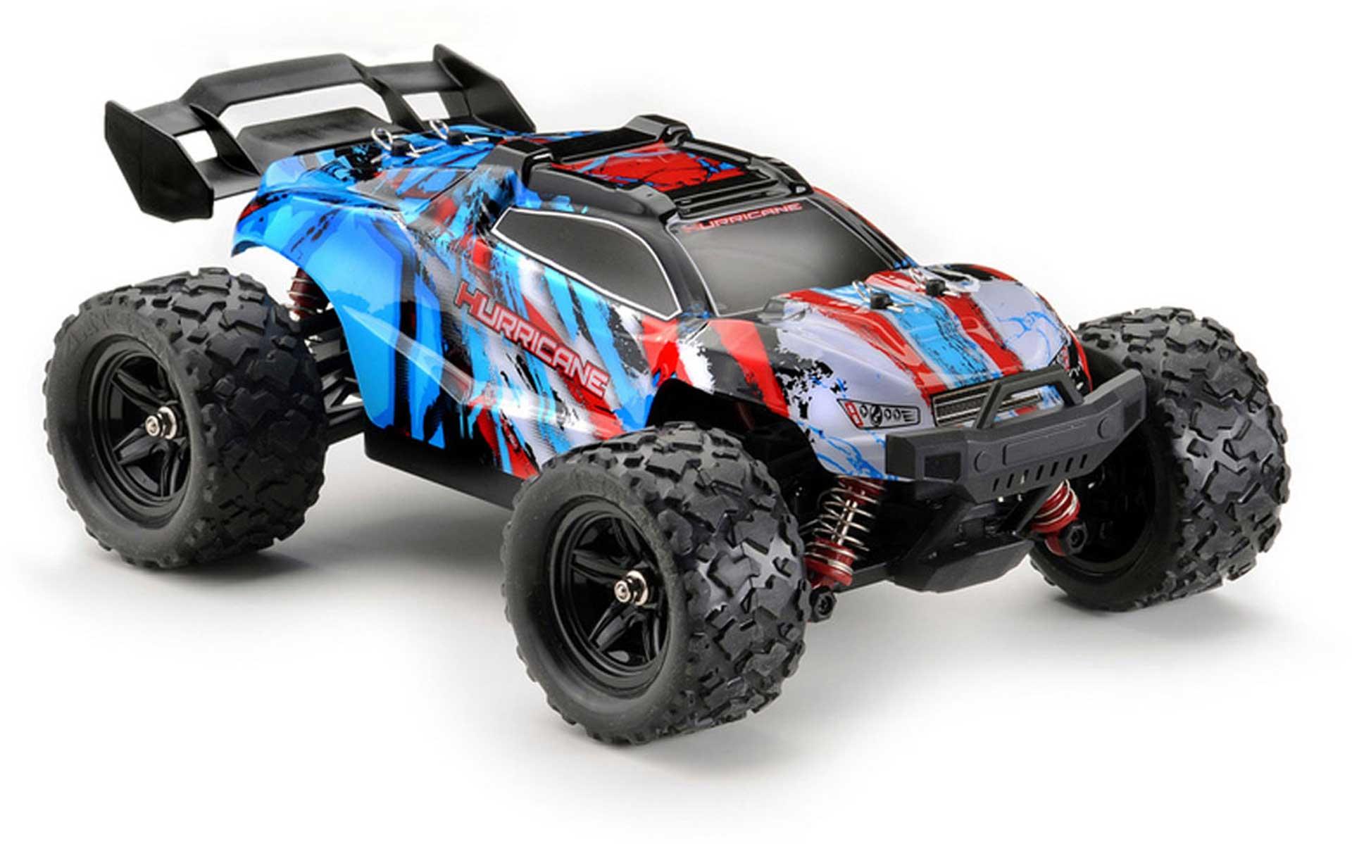 ABSIMA TRUGGY HURRICANE 1/18 4WD RTR BLAU HIGH SPEED RACE TRUCK +35KM/H
