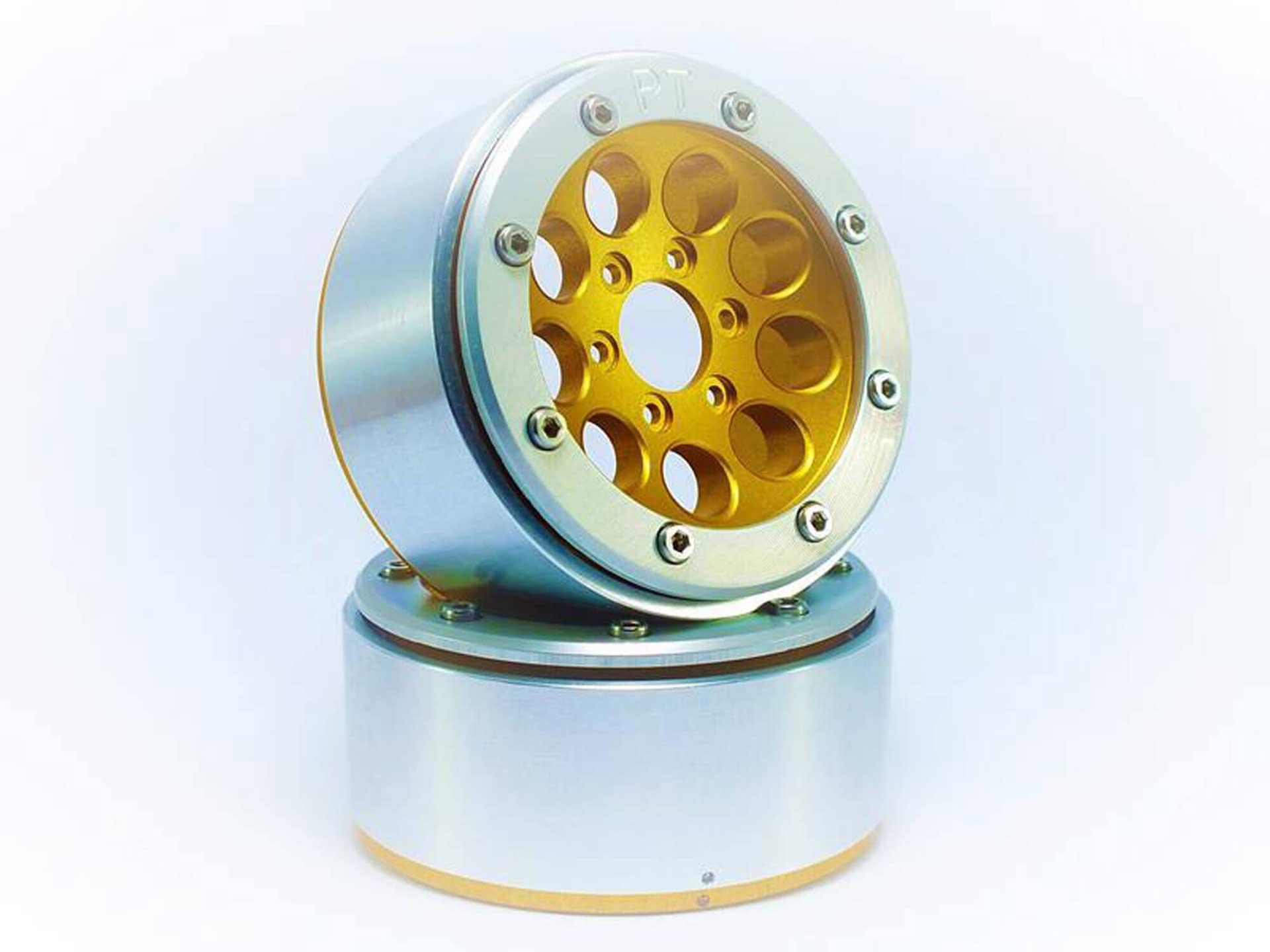 Metsafil Beadlock Wheels GUN gold/silber 1.9 (2 St.) ohne Radnabe
