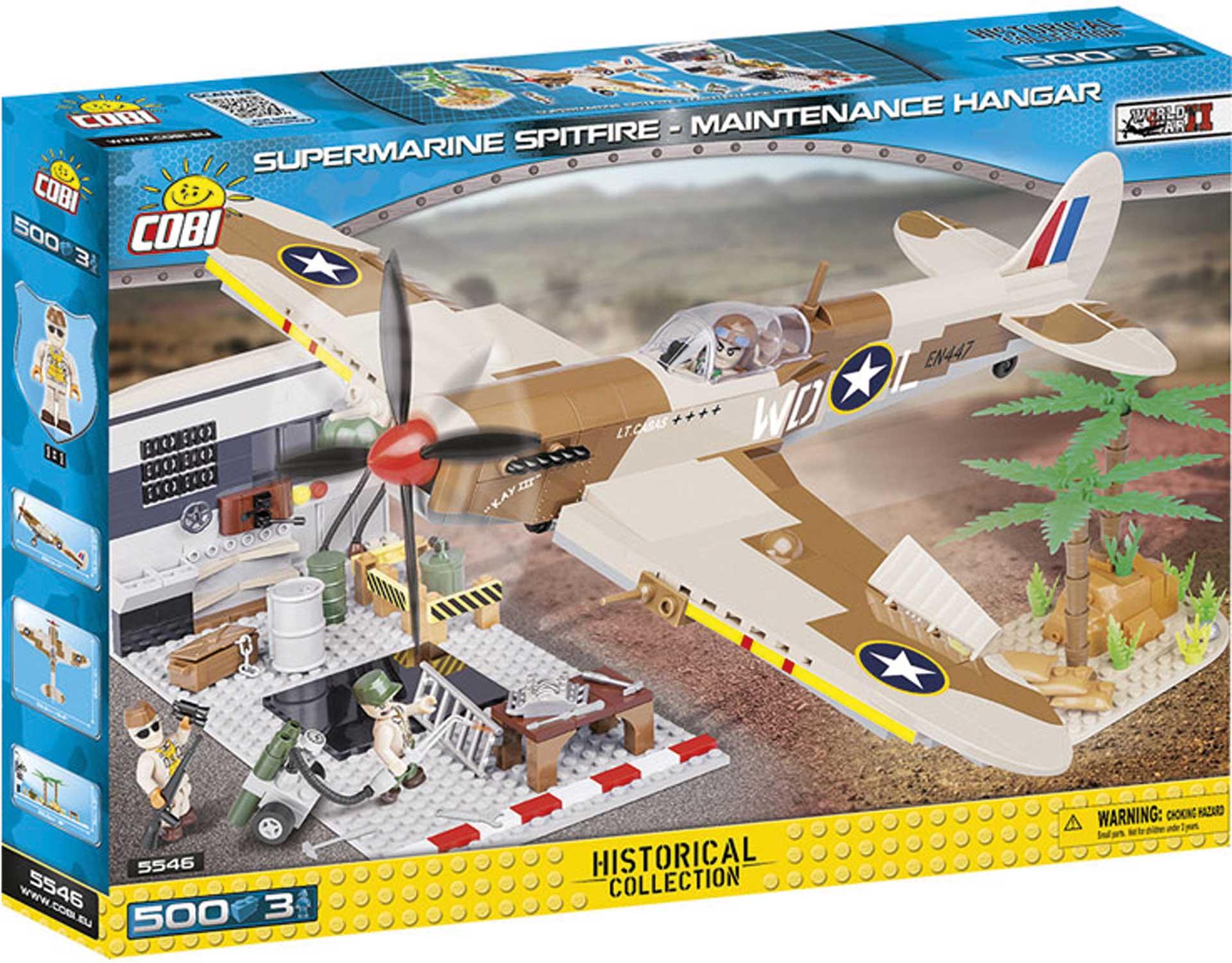 COBI Supermarine Spitfire Maintenance Hangar (500 Teile) Klemmbausteine